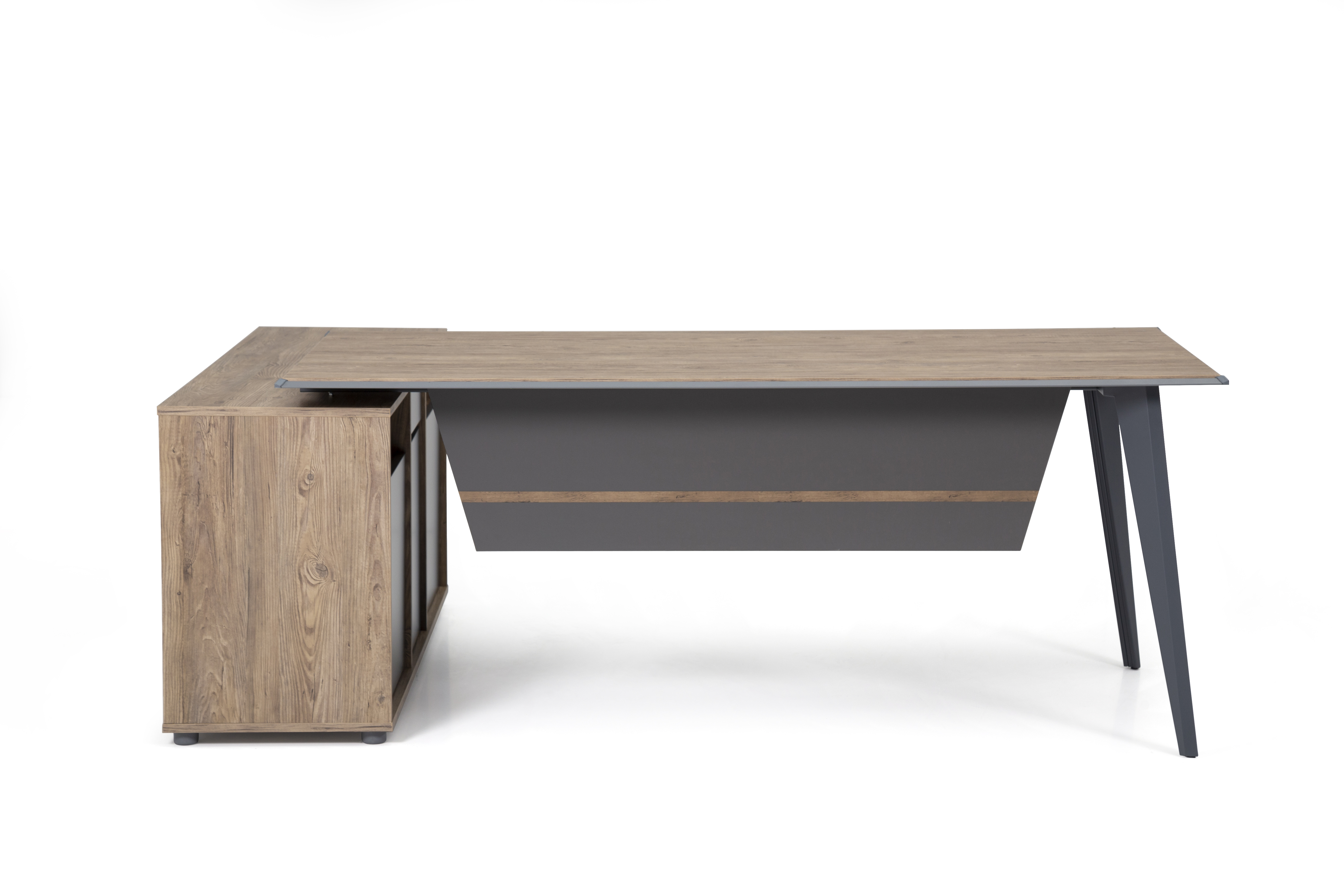 Ovali Design Bürotisch 2-teilig Ecoplus L2 140x80 cm