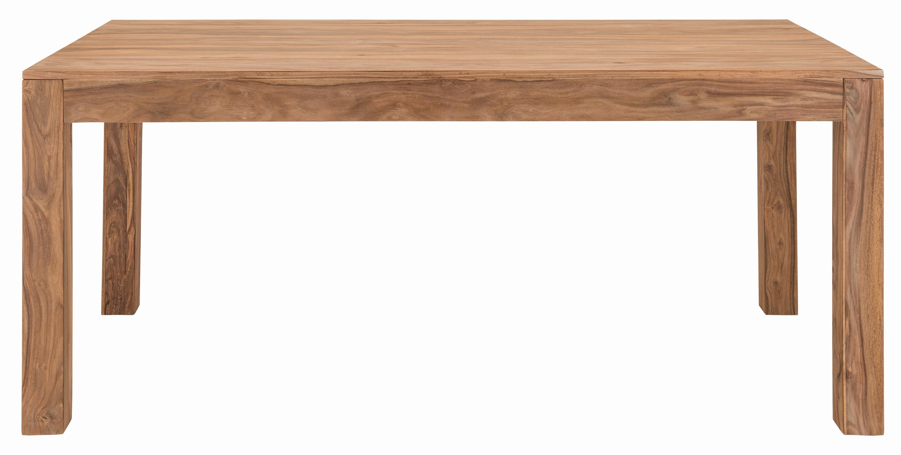Esstisch Massivholz Natur Sanam 160x90