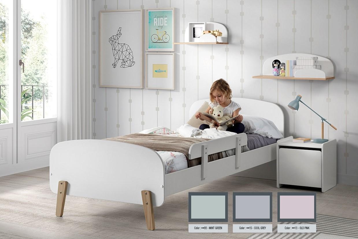 Kid Kinderbett 90x200 Hellgrau