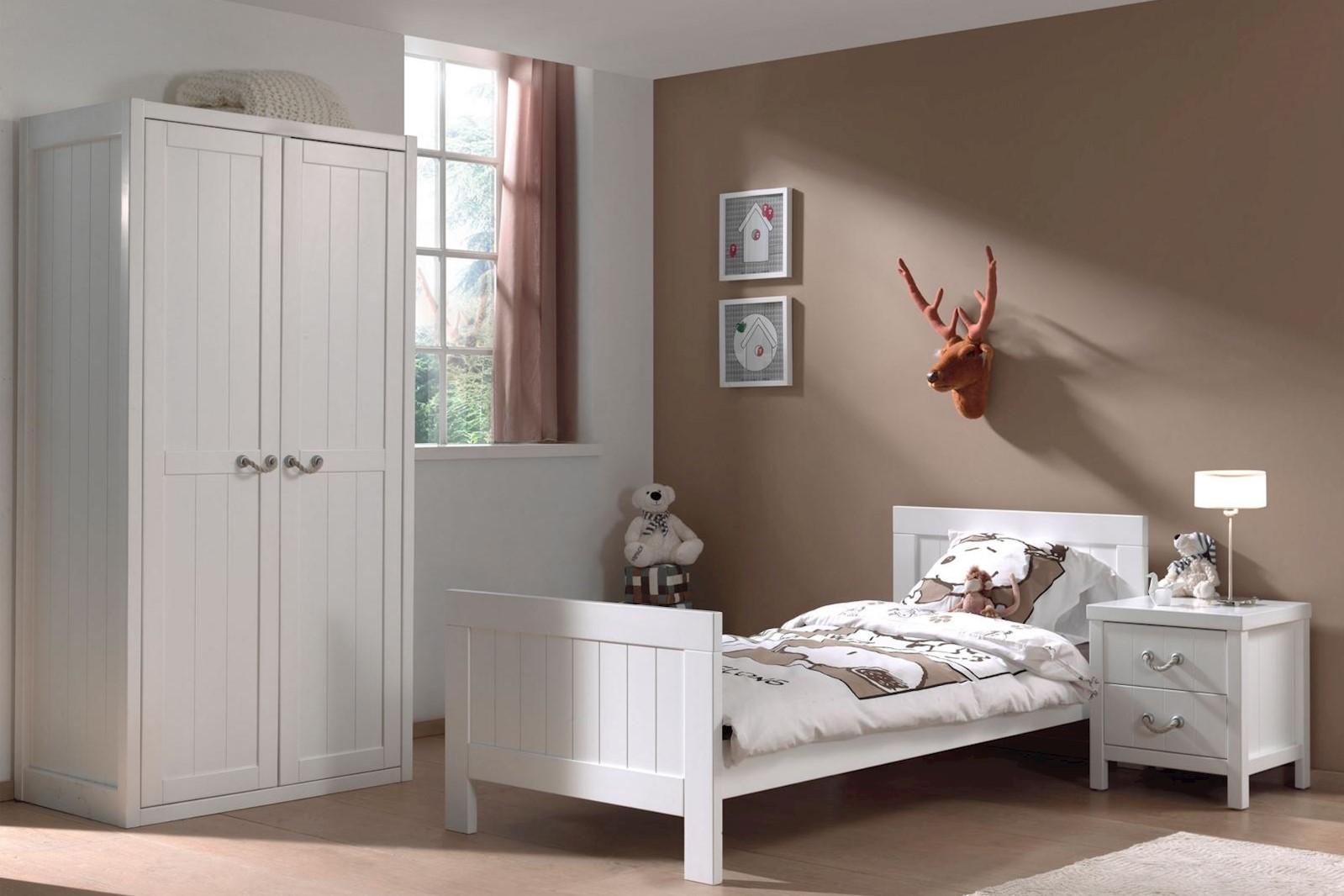Kinderbett Set Iny 3-teilig in Weiß