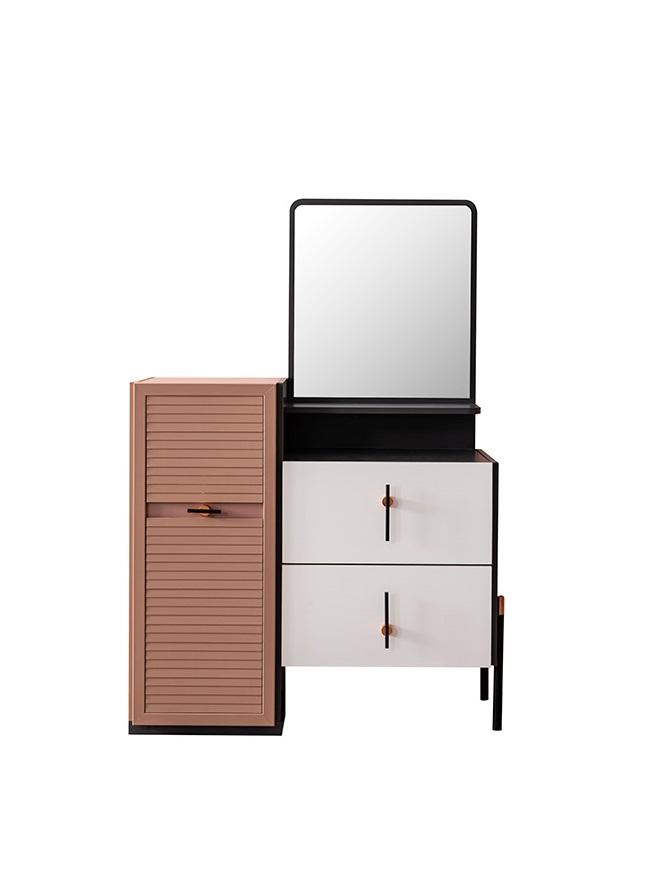 Weltew Spiegelkommode mit Tür und Schubladen Avsa