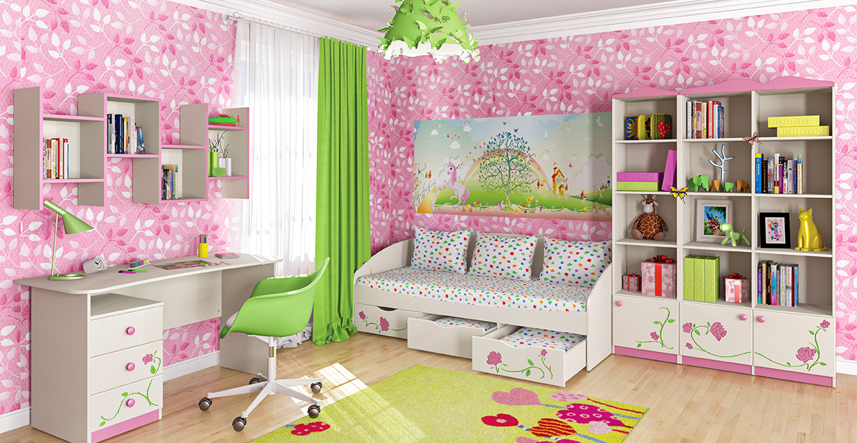 Neman Kinderbett 80x190 mit Bettkasten Rosalia Creme