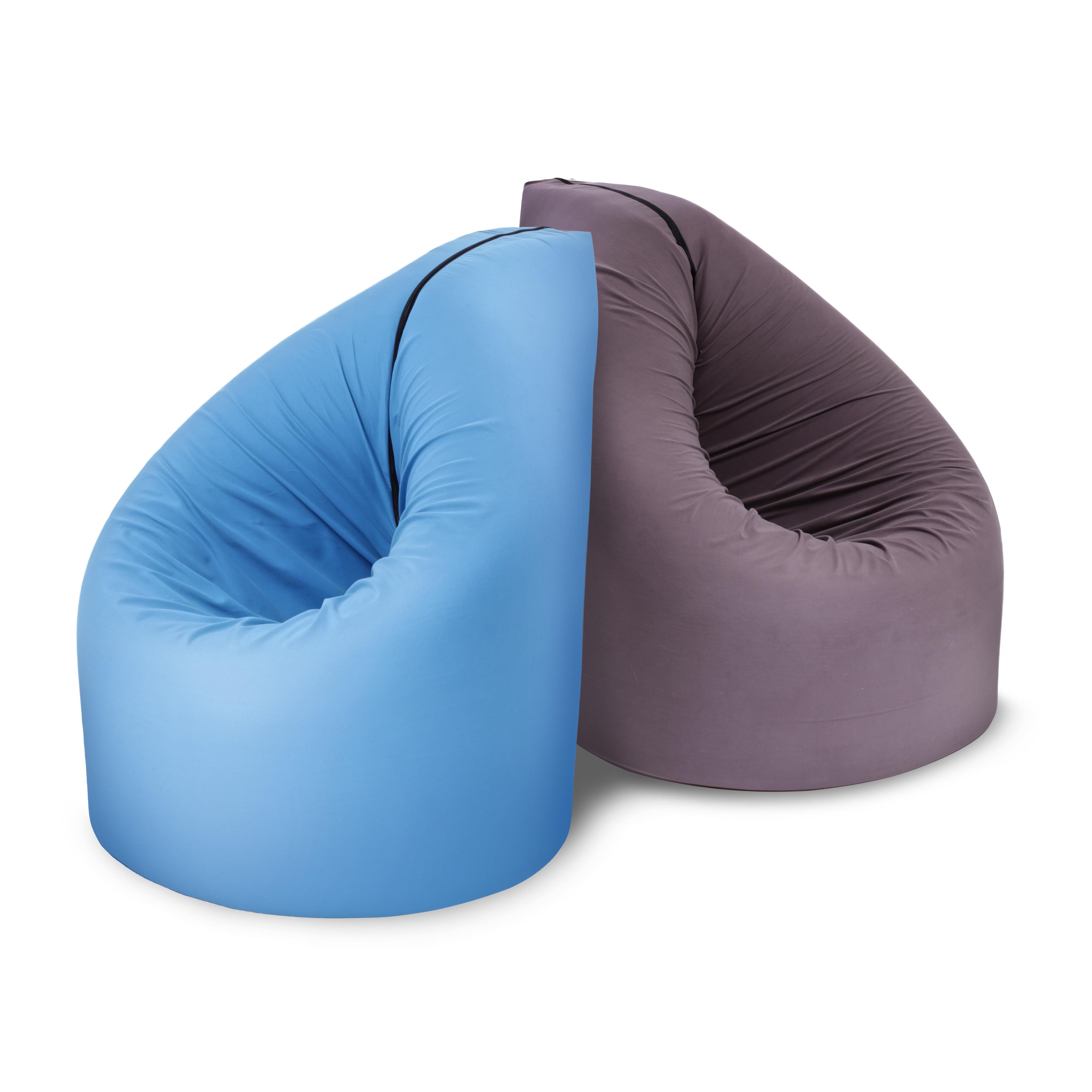 Almila wandelbarer Pagbed Sitzsack in Blau