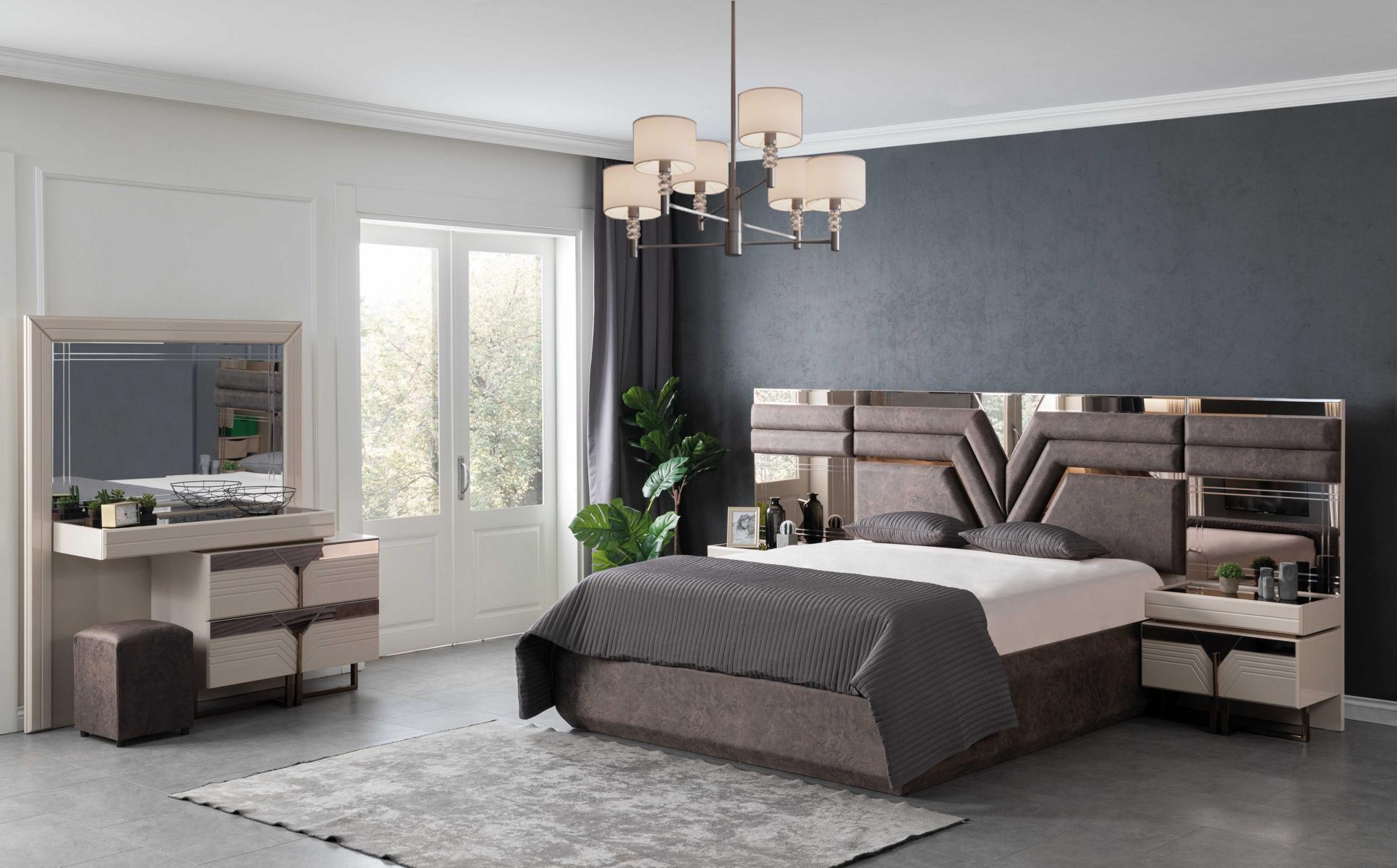 Lidya Schlafzimmer Set Collvan mit Bett in 180x200 cm