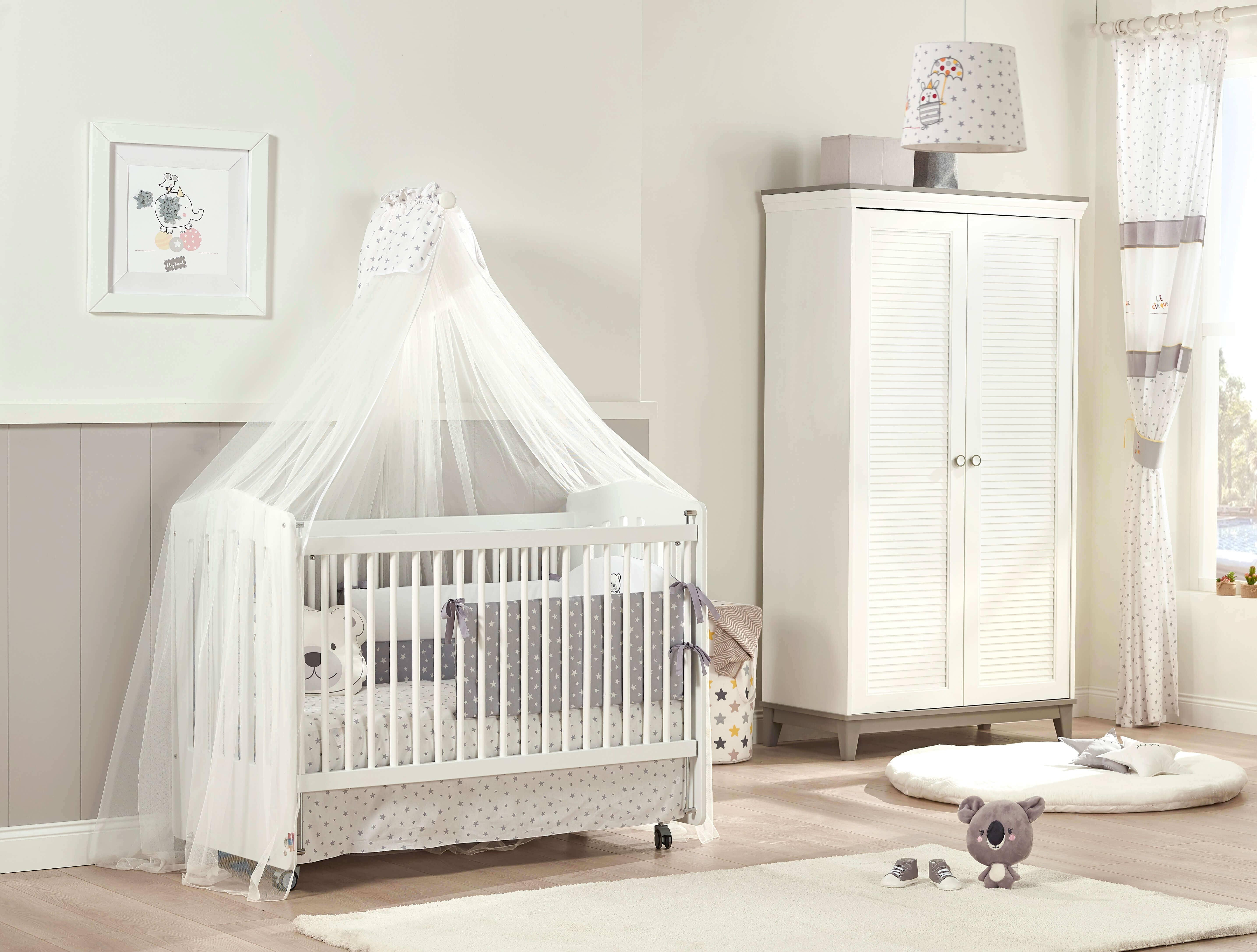 Almila Babyzimmer Set Mia mit Säuglingsbett 60x120 cm