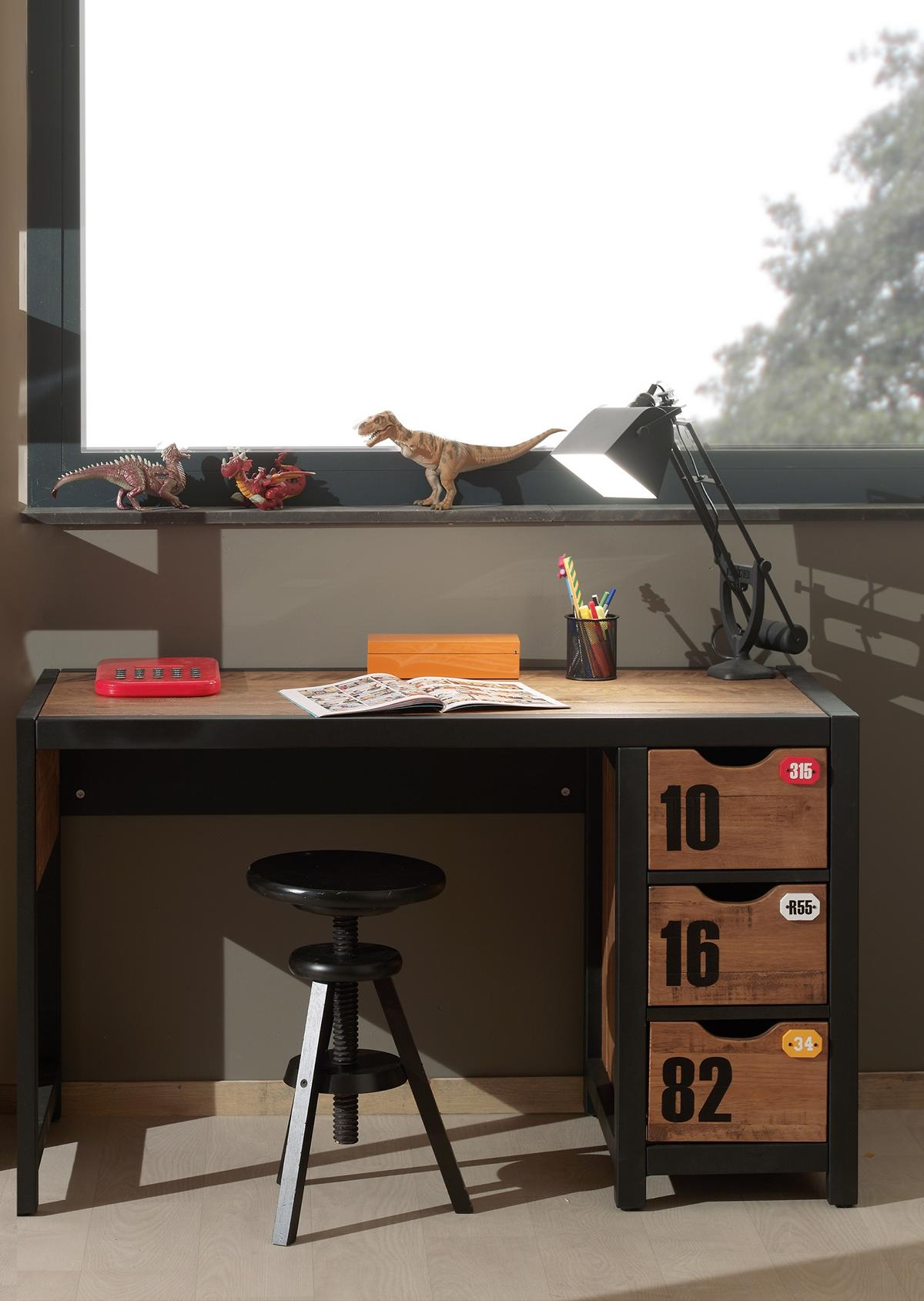 Jugend Schreibtisch Alex mit Regal aus Massivholz