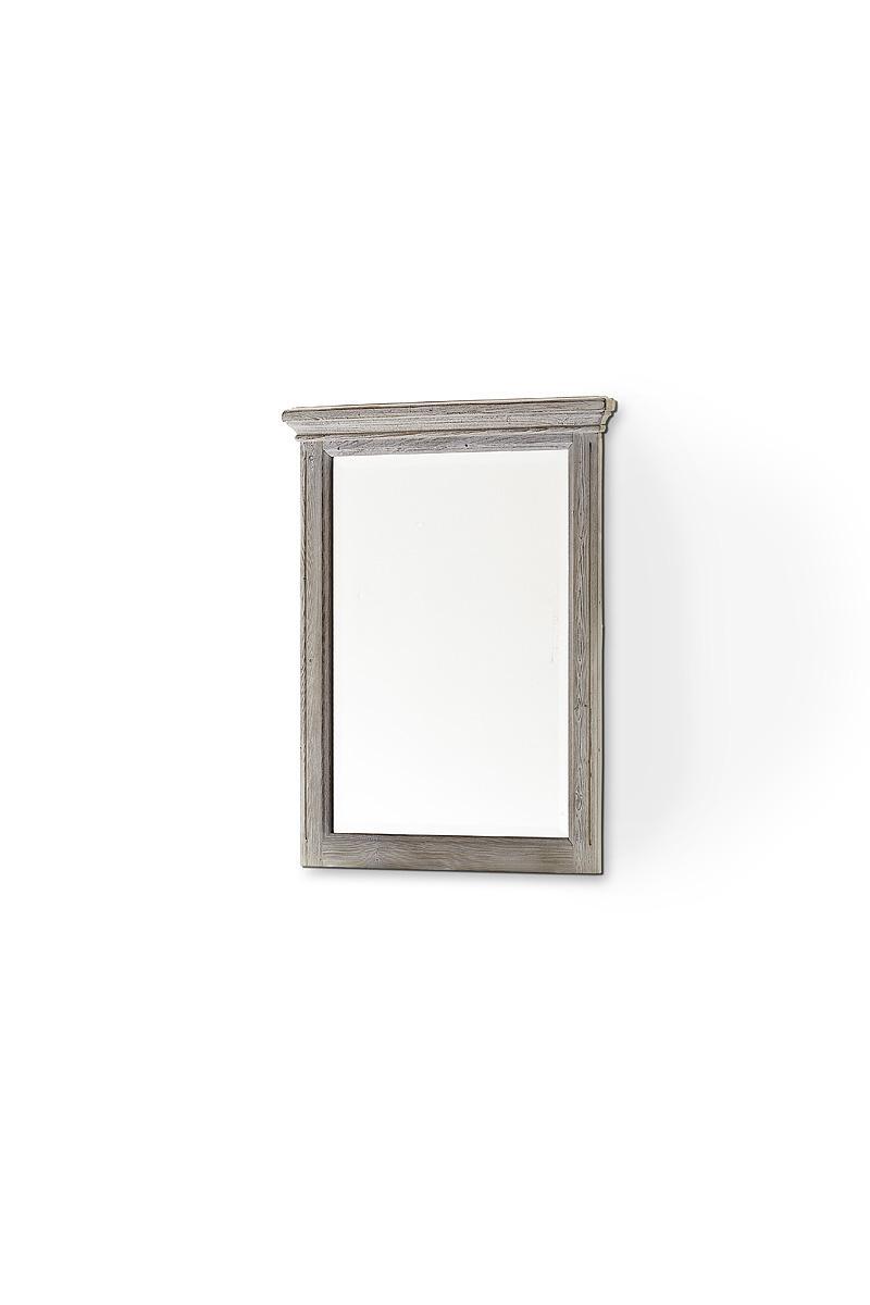 Spiegel Olio in Kiefer massiv Weiß