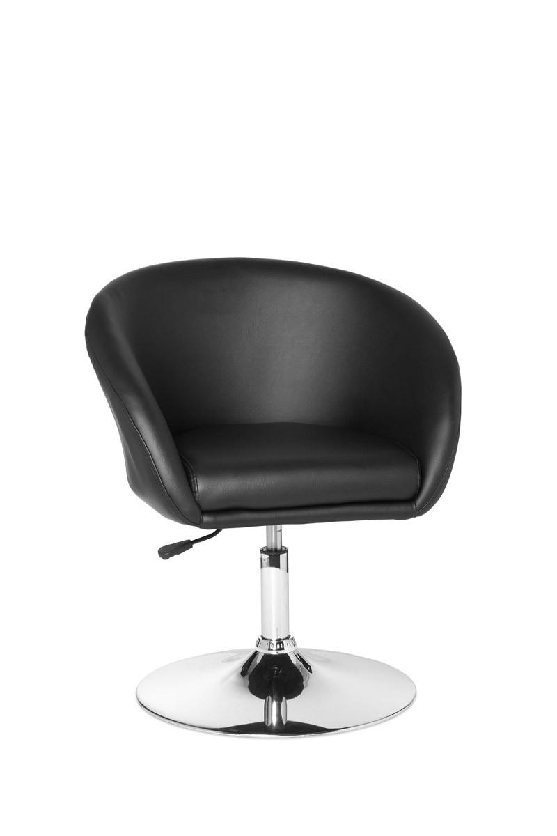 Designer Drehsessel Sessel mit Lift Leder Optik schwarz