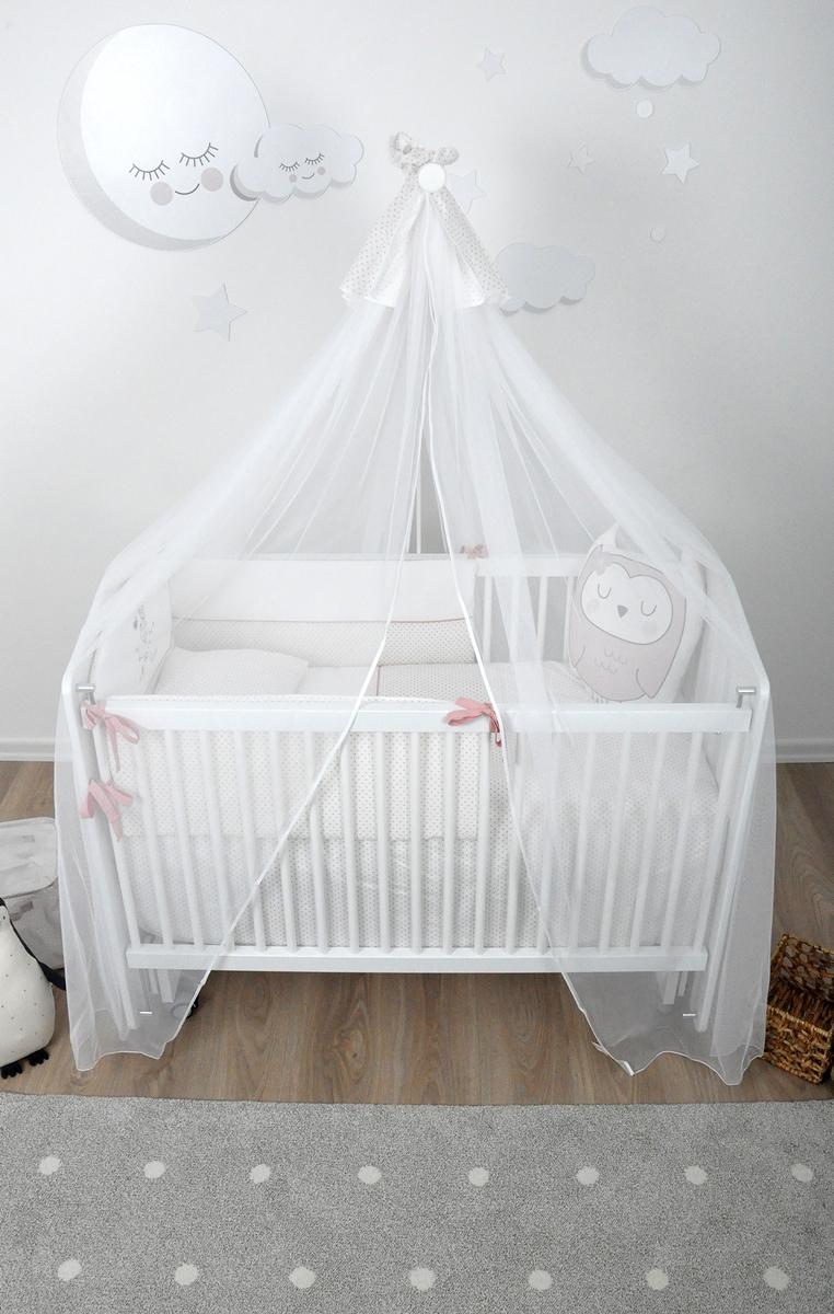Almila Baby Schaukelbett Mia 60x120 in Weiß auf Rollen