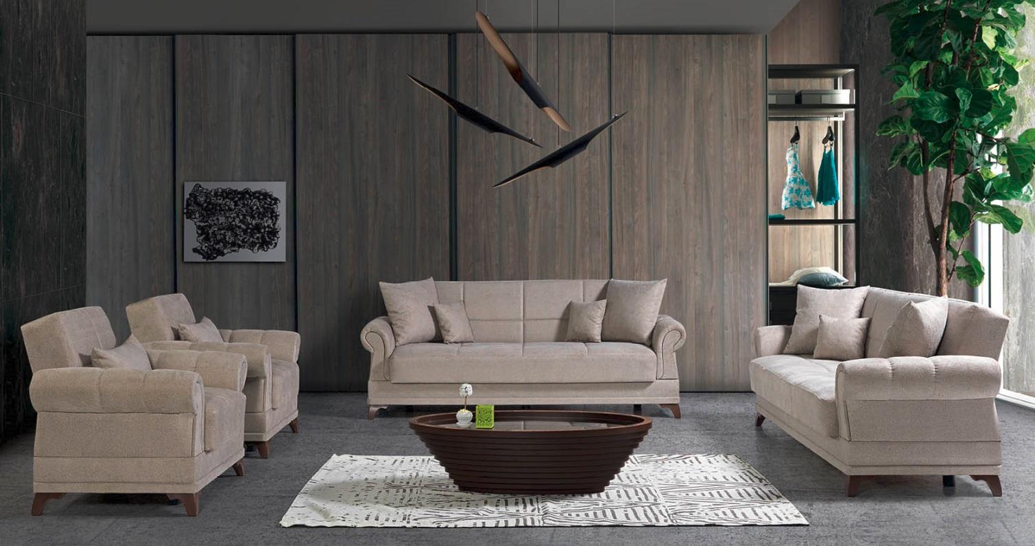 Windy Couch Garnitur Royal mit Stauraum in Beige
