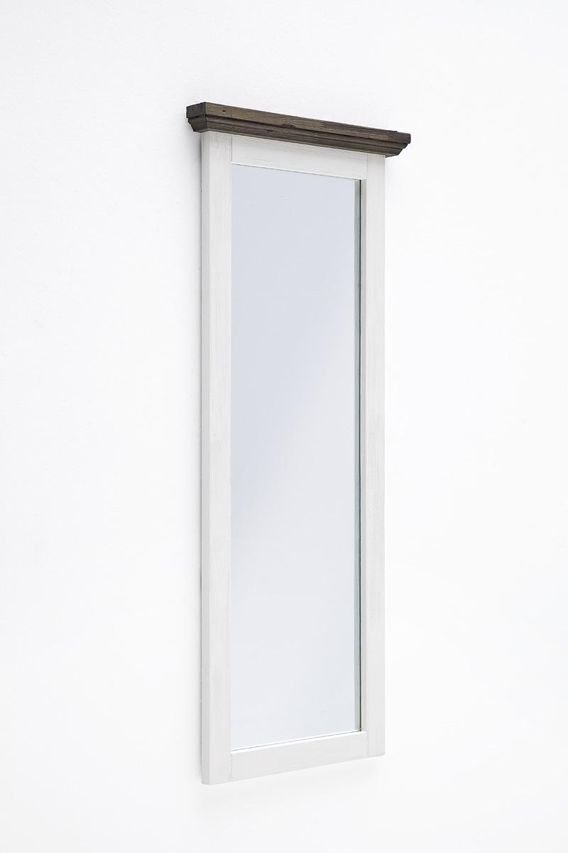 Seona Wandspiegel 59x145 in Akazie Weiß lackiert