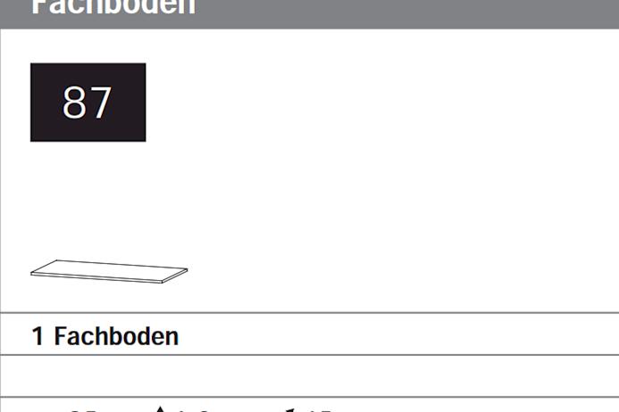 1 Schränke-Fachboden Breite 85 cm