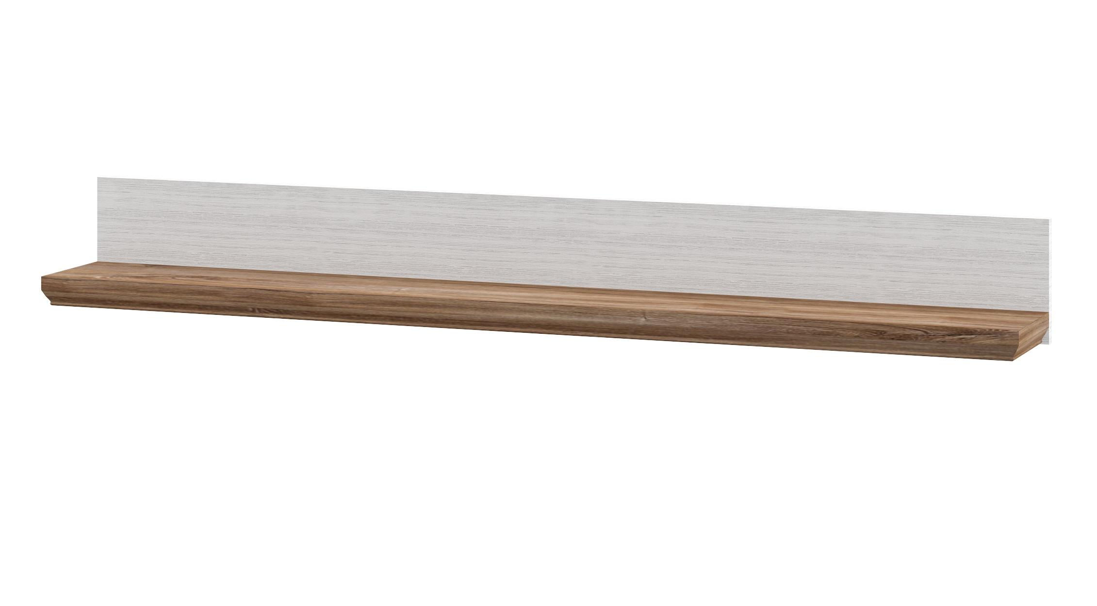 Neman Wandregal 138x16 cm Tivoli Landhausstil Weiß