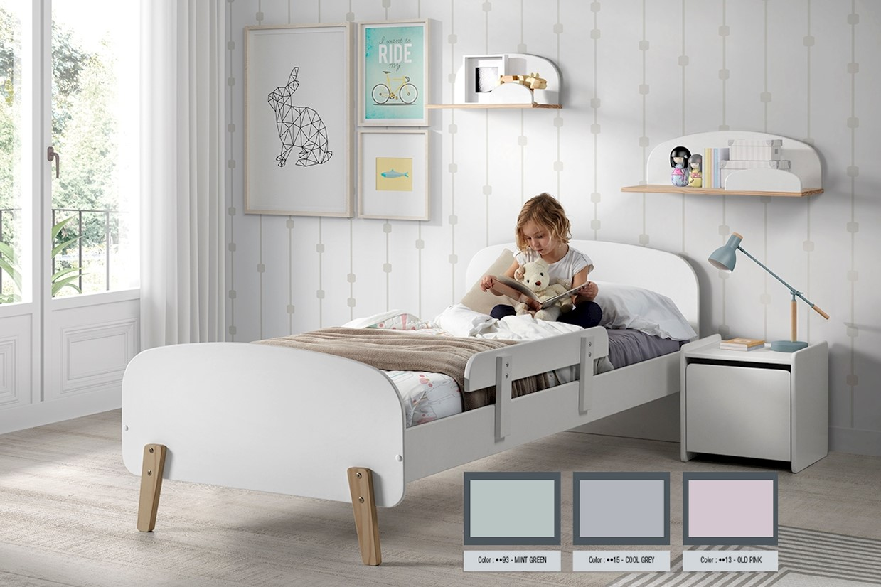 Kid Kinderbett 90x200 Weiß
