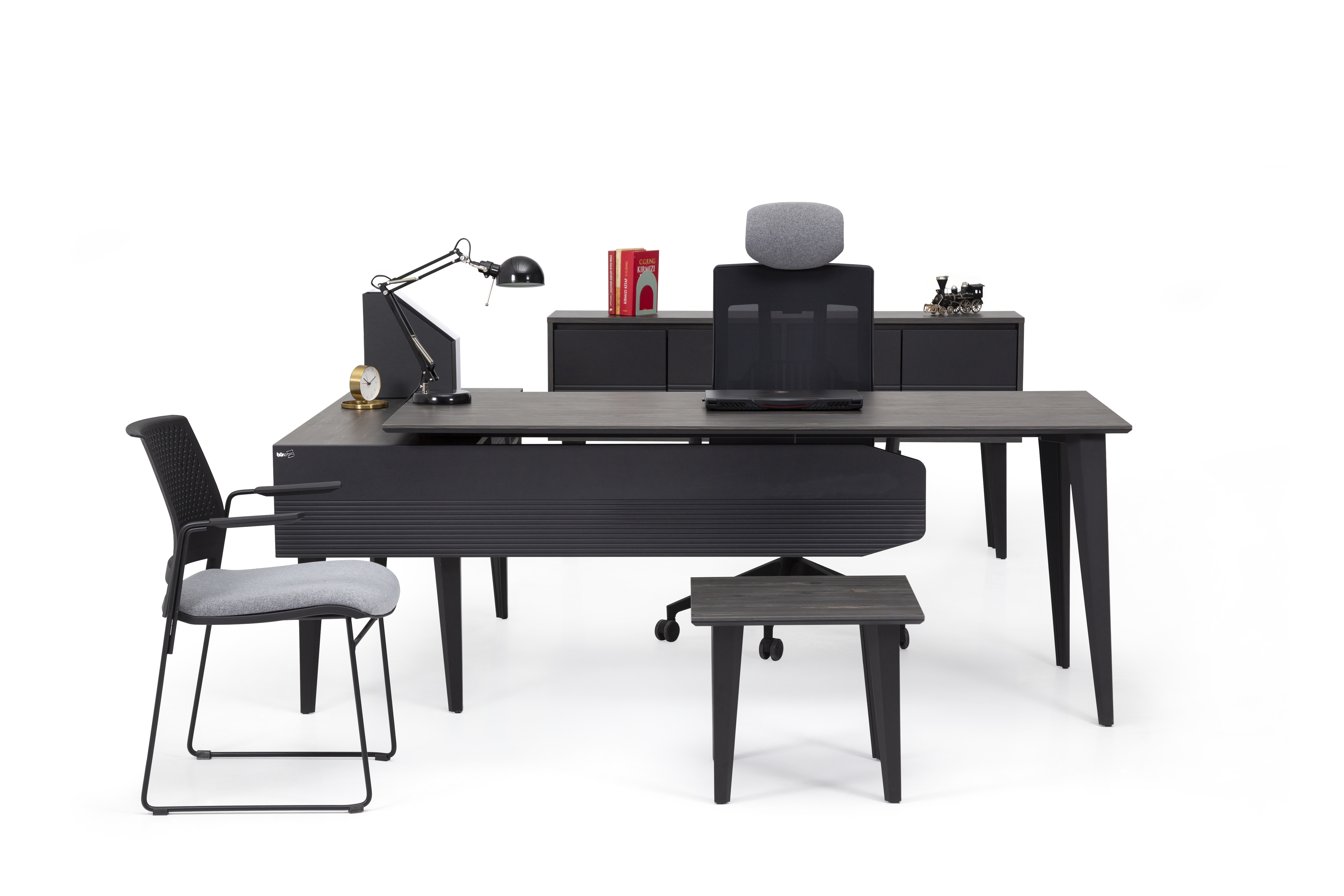 Ovali Büromöbel komplett 4-teilig Snap 160x80 cm