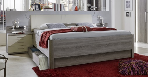 Schlafzimmerset Delina 4-teilig in Trüffeleiche