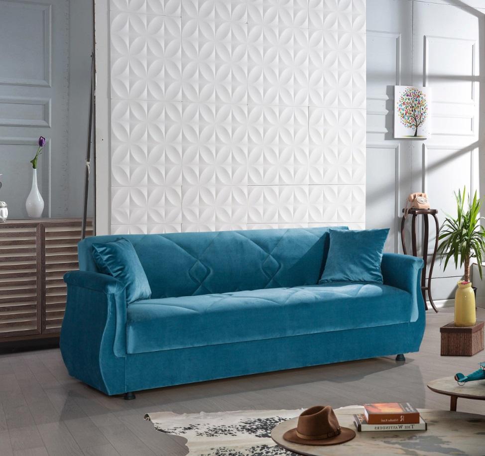 Windy Sofa mit Schlaffunktion in Blau Buket 3-Sitzer