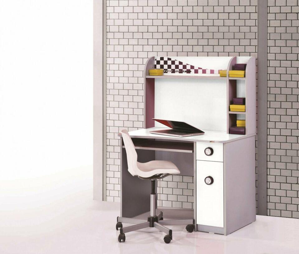 Schreibtisch Turbo mit Aufsatz Weiß Ausstellungsstück