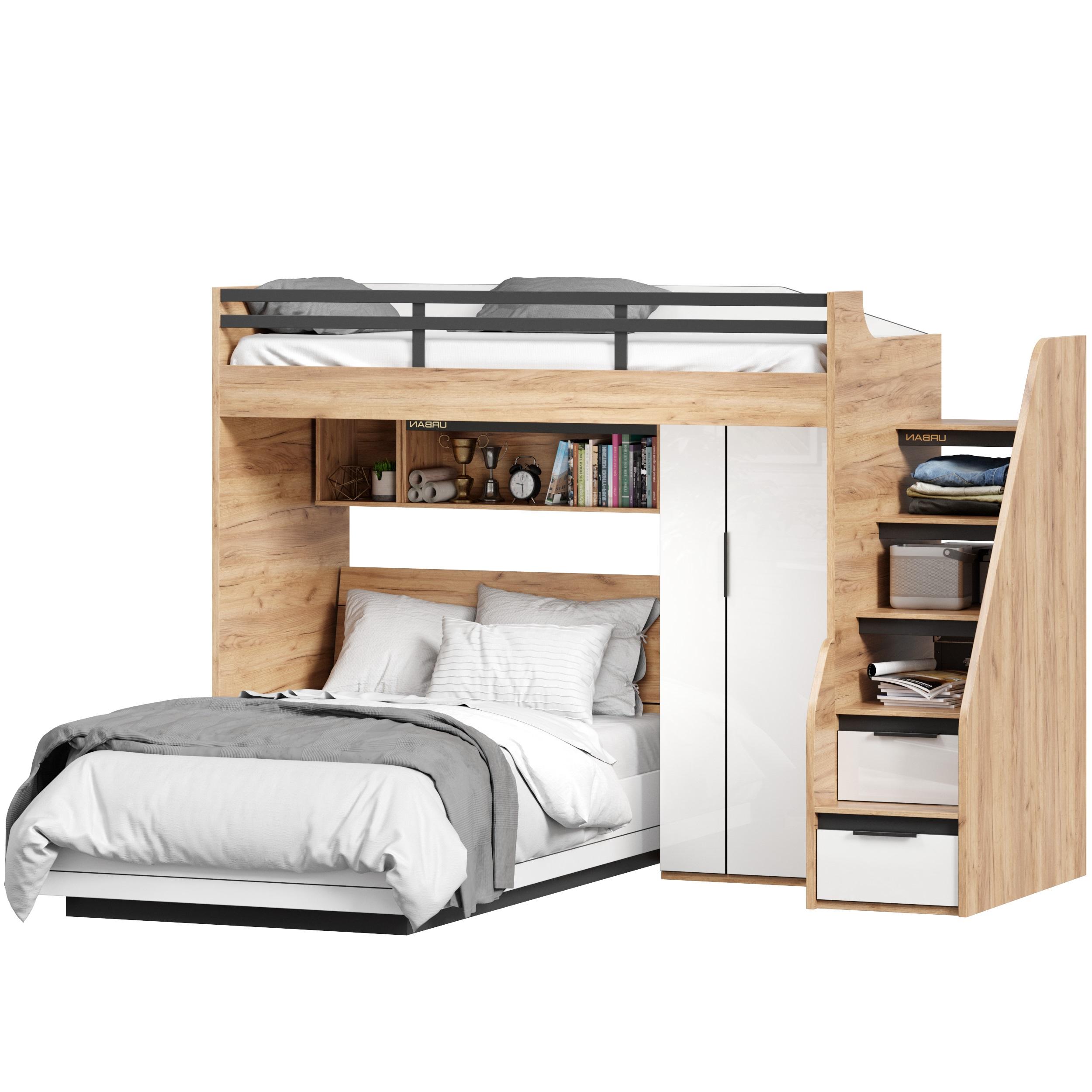 Lubidom Hochbett Urban mit Bett 120x200 cm Rechts