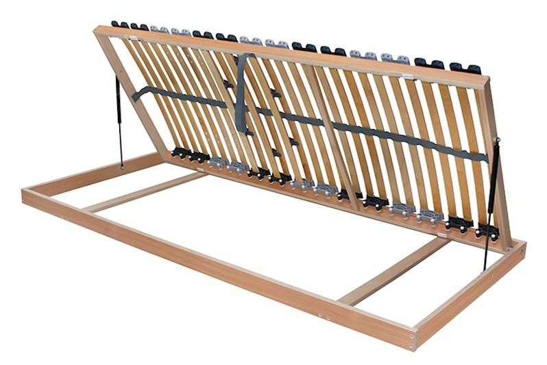 7 Zonen Lattenrost Rolly links und rechts aufklappbar 80x190cm