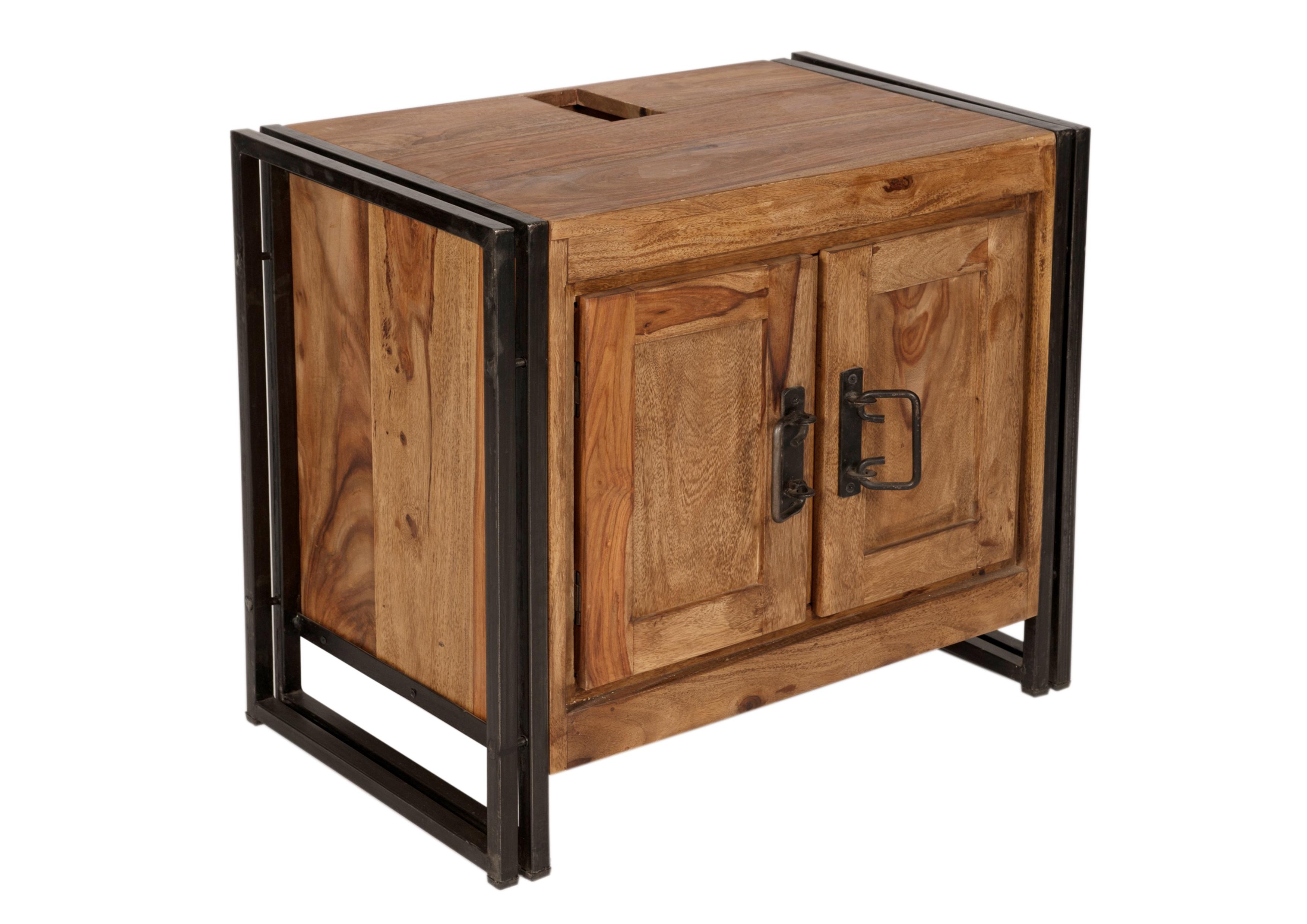 Waschbeckenunterschrank Pontem aus Massivholz