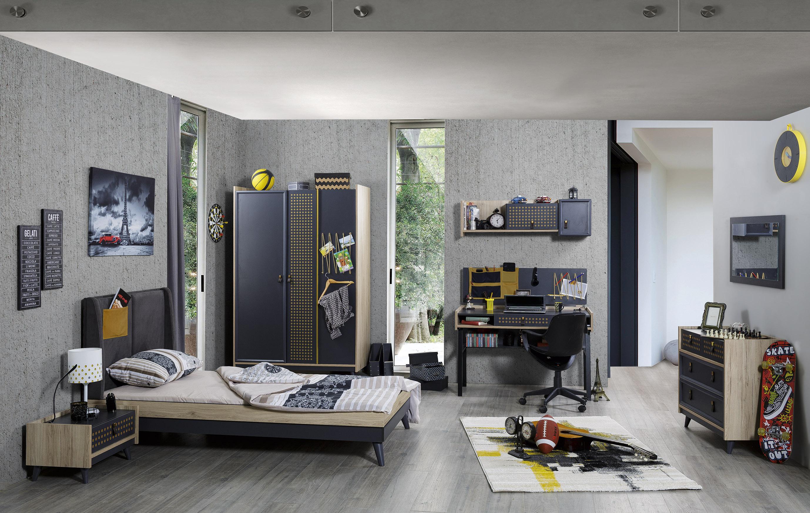 Titi Jugendzimmer Dark Point 6-teilig modern