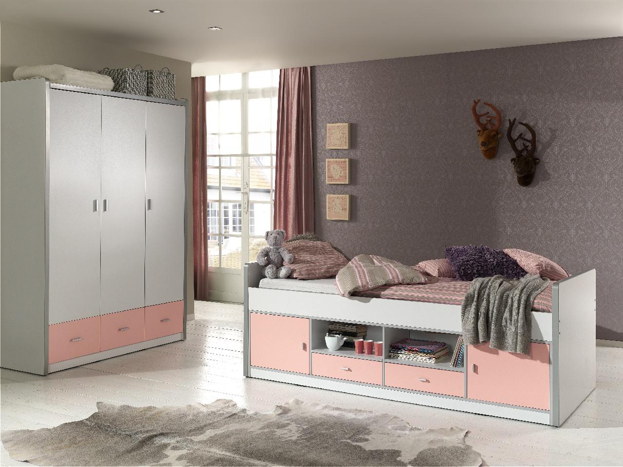 Kinder Kojenbett mit Stauraum Bonny 90x200 Rosa