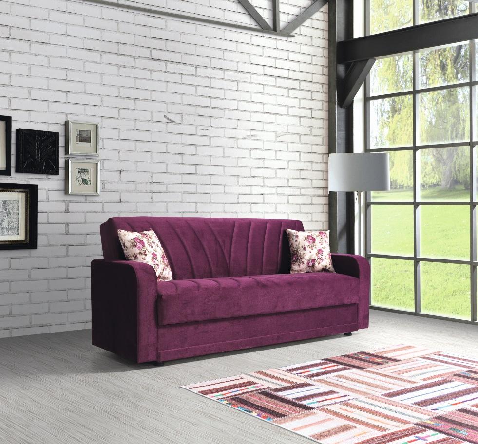 Windy Sofa Sultan 3-Sitzer mit Schlaffunktion Lila
