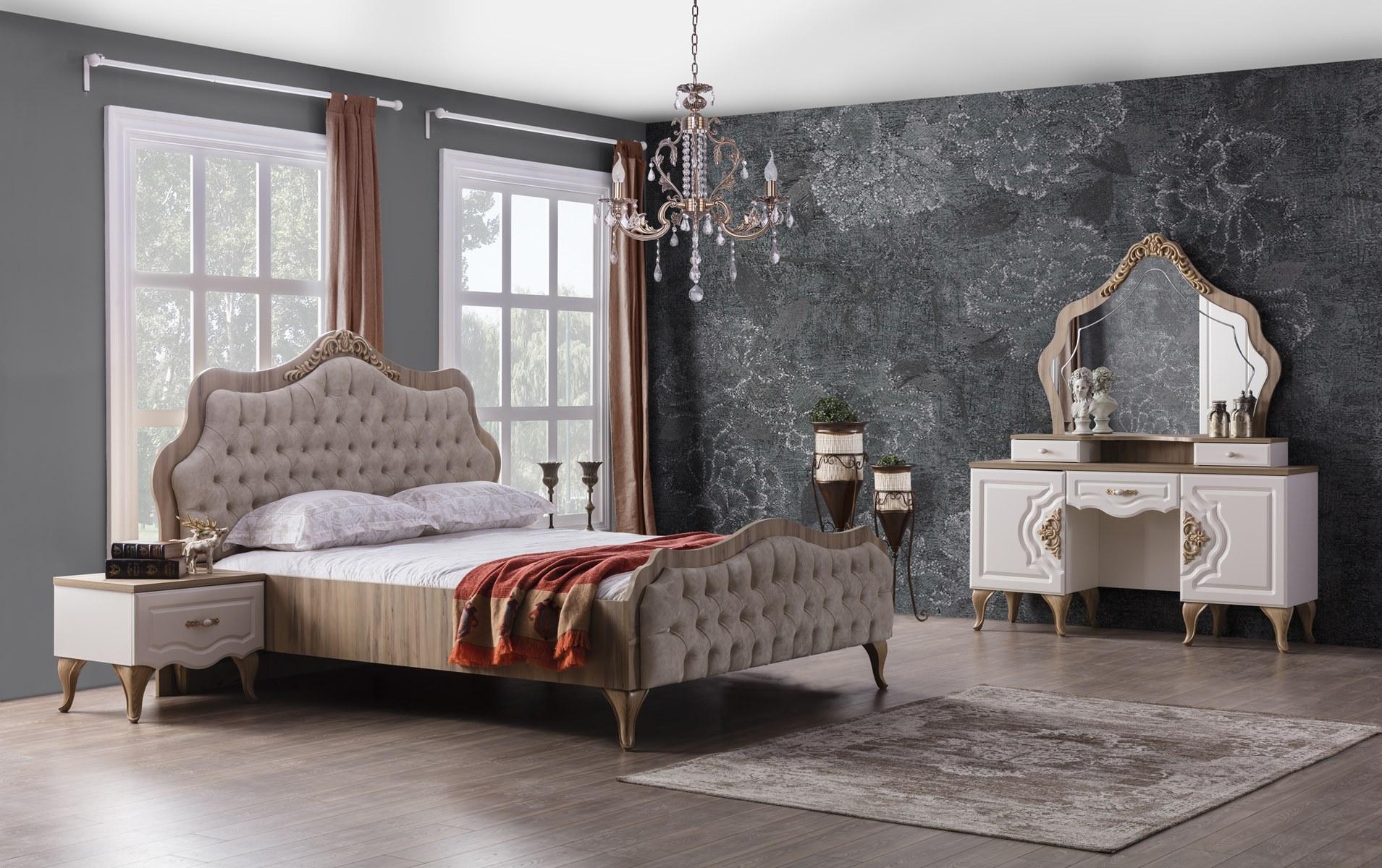 Weltew Schlafzimmer Balat 5-teilig mit Stauraumbett