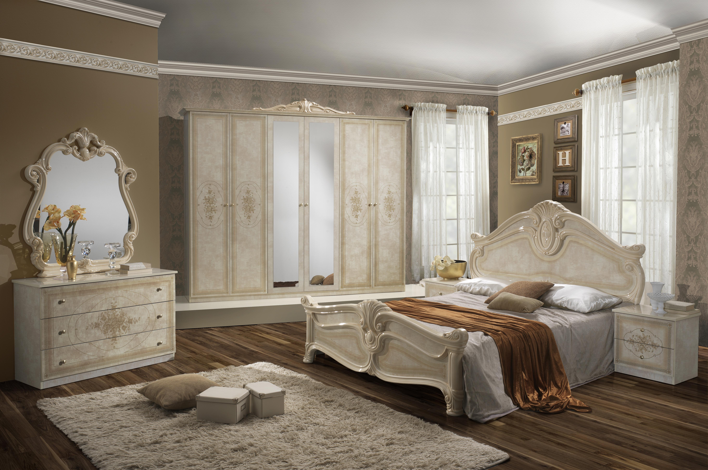 Schlafzimmer Set Malfi mit 4-türigem Schrank Beige