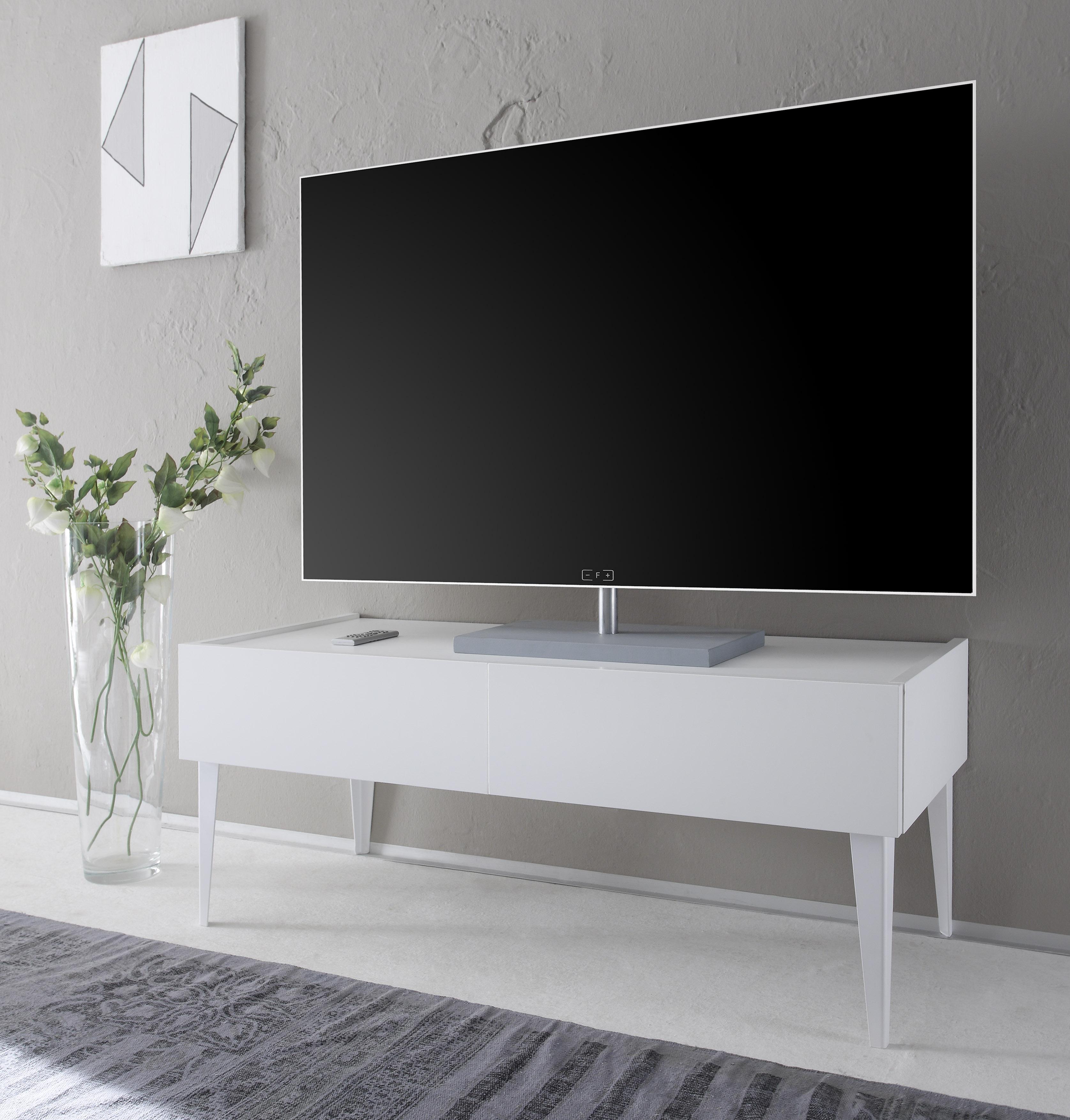 TV-Lowboard Bloom in Weiß