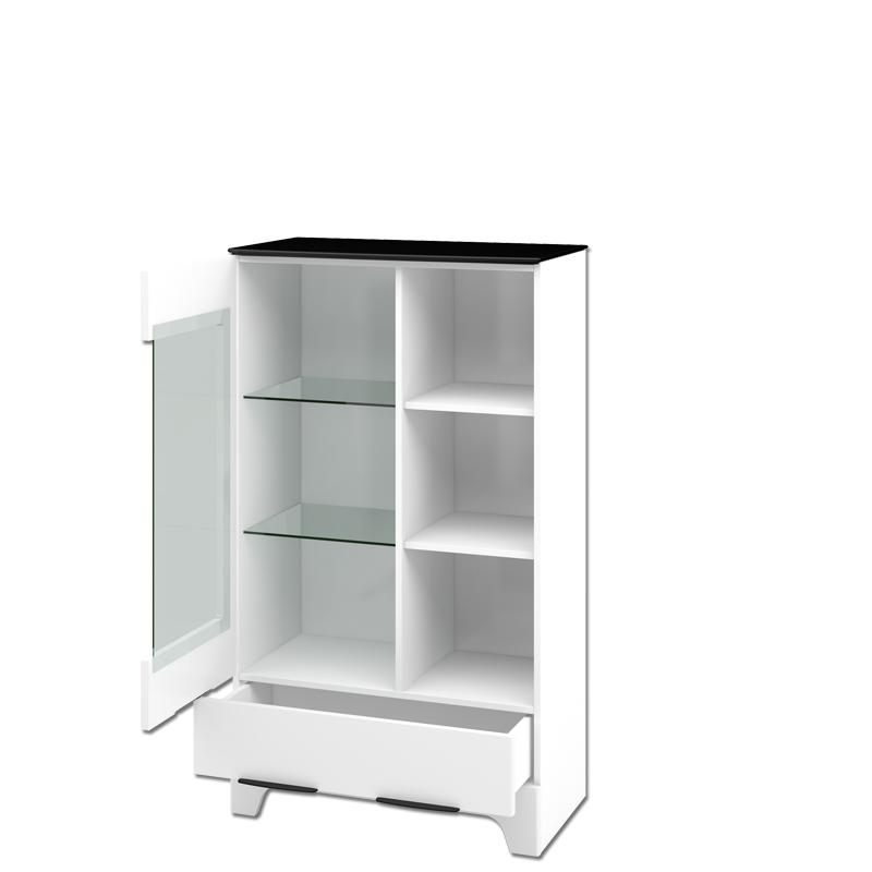 Wohnwand Verala 4-teilig inklusive 2 Vitrinen in Weiß