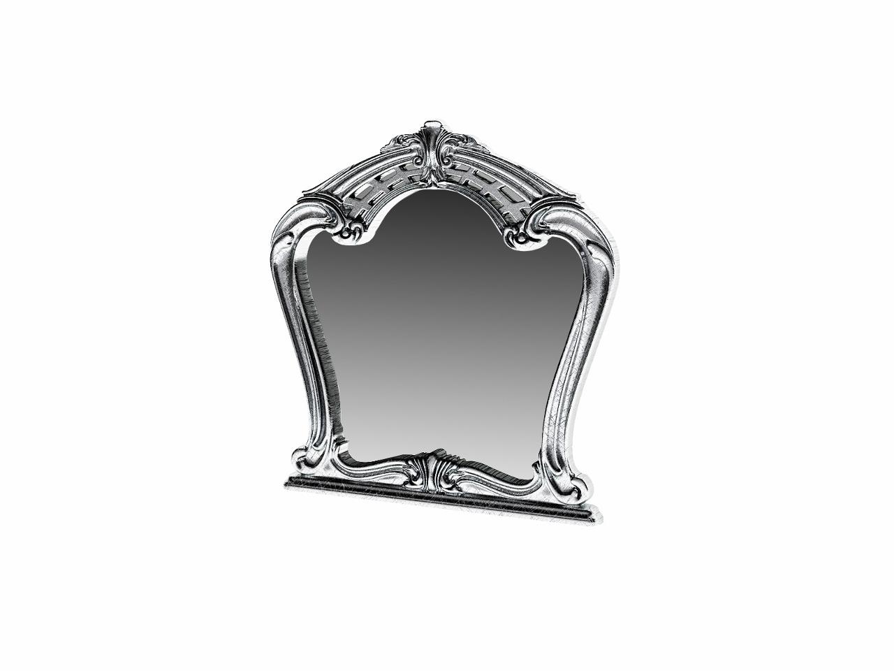 Barock Spiegel Julianna im Glanzrahmen Schwarz-Silber