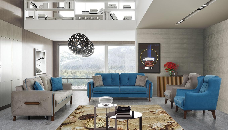Design Sofa Set mit Schlaffunktion Mury 4-teilig