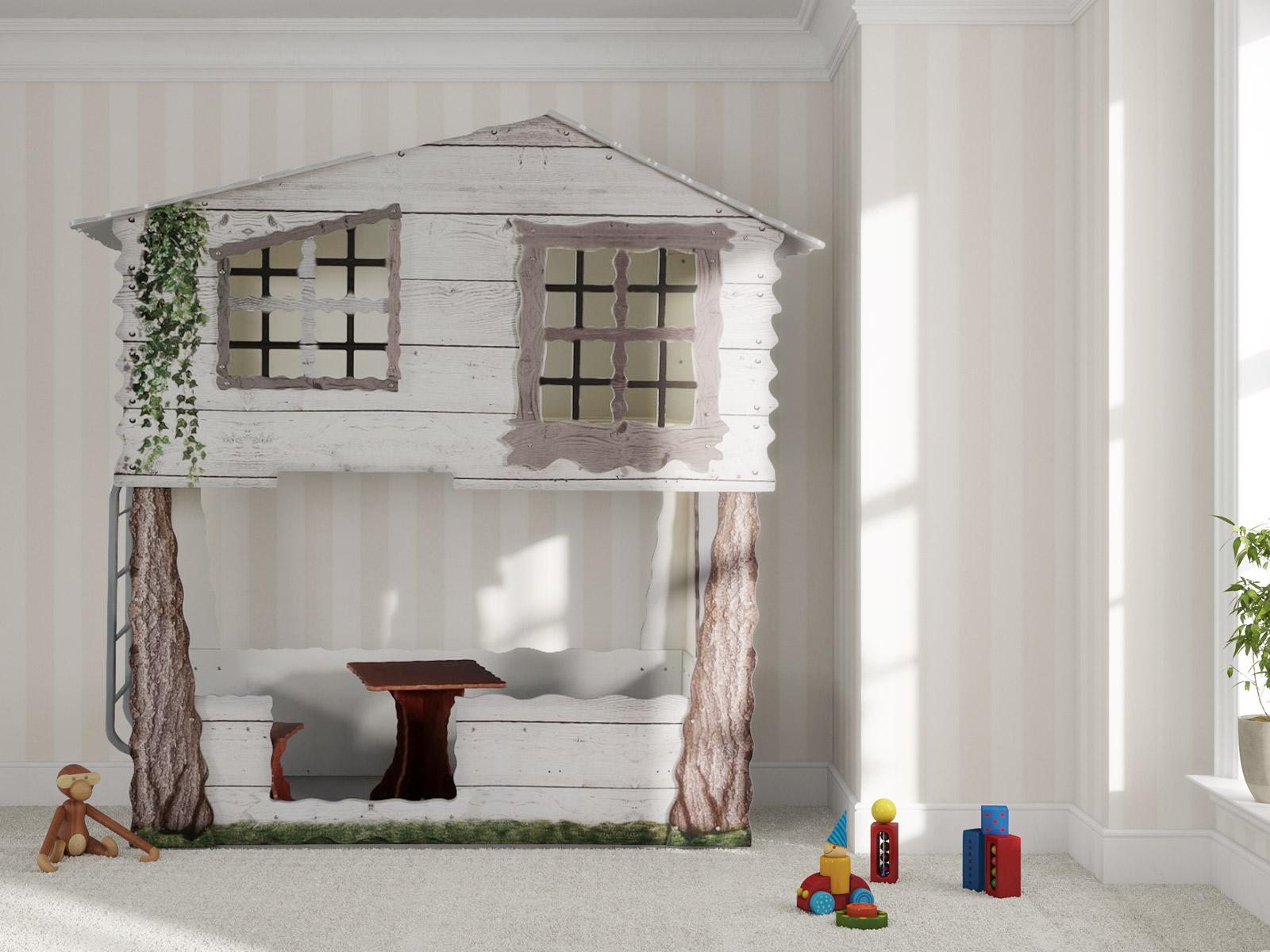 Kinder Baumhausbett Forest mit zwei Schlafplätzen