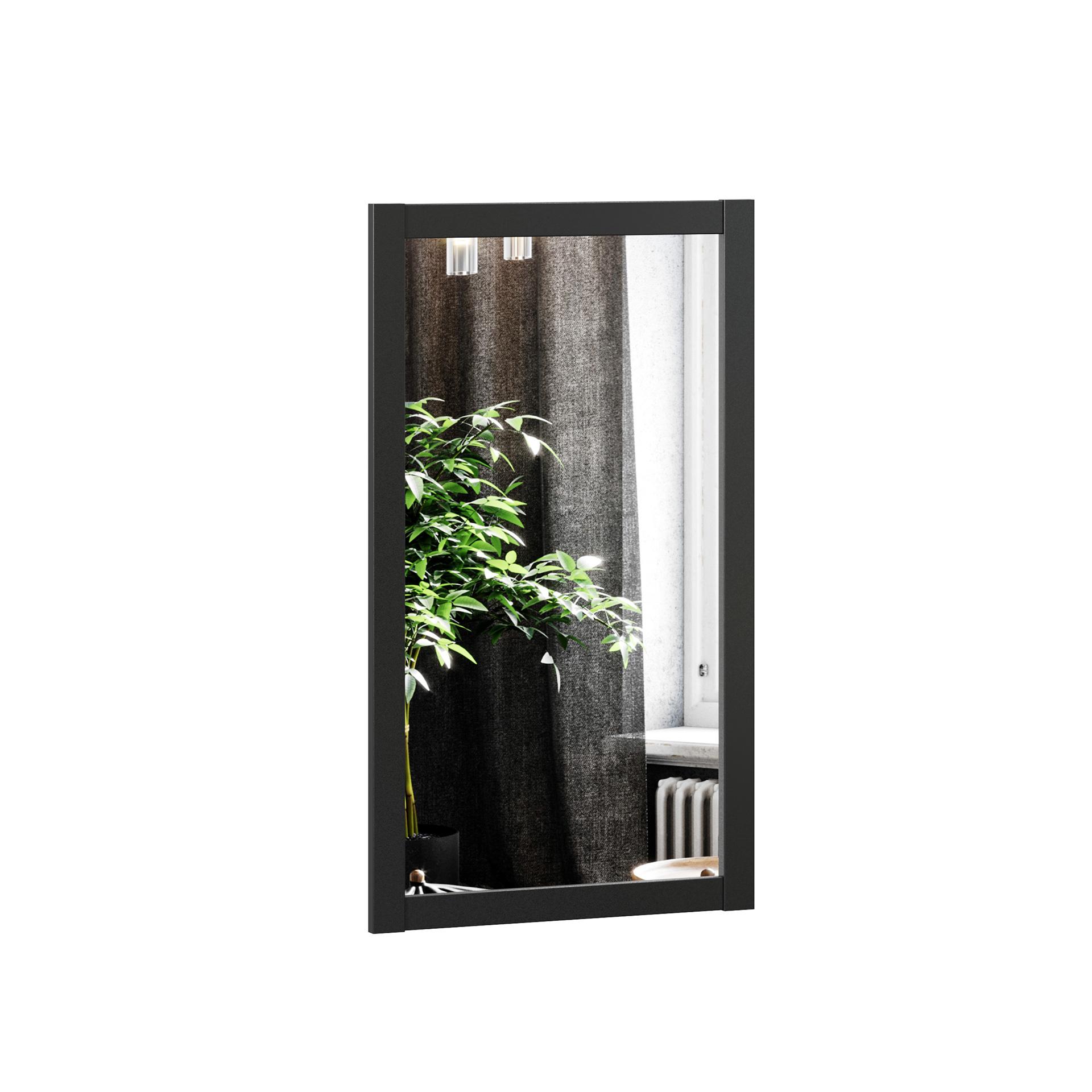 Lubidom Wohnzimmer Wandspiegel Techno in Schwarz