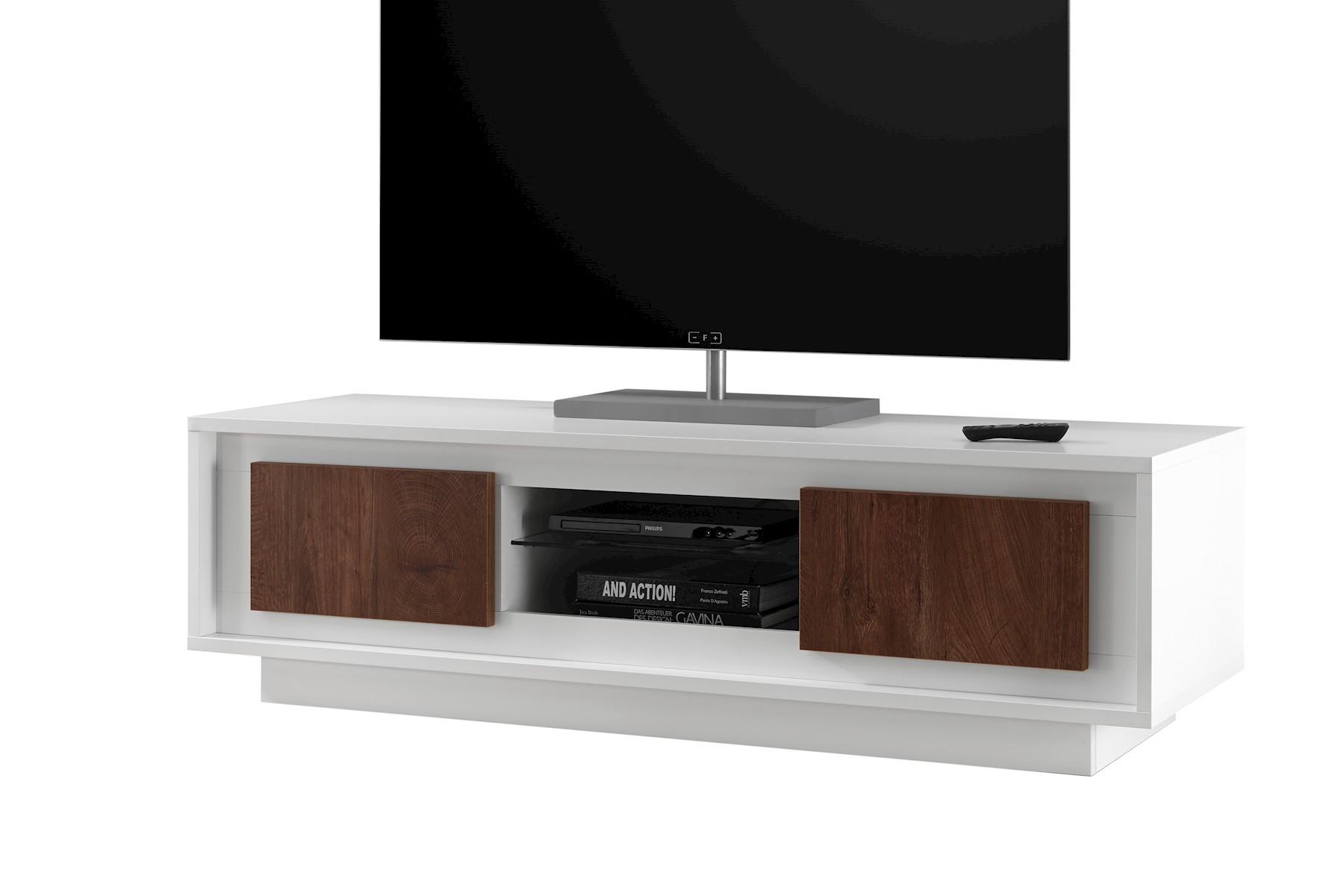 Heaven TV-Unterschrank Weiß Cognac