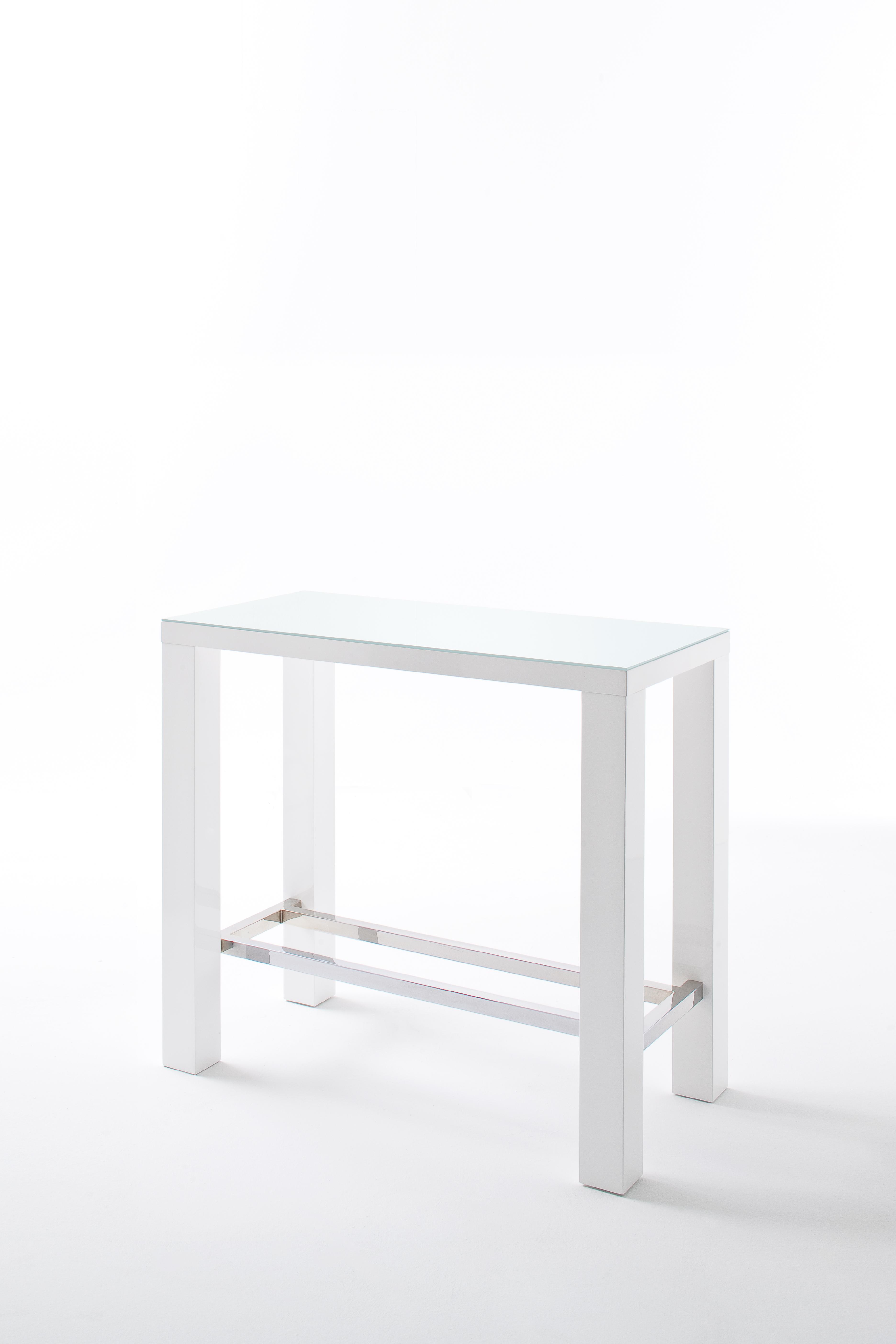 Jelly Bartisch Hochglanz Weiß 120x107x60