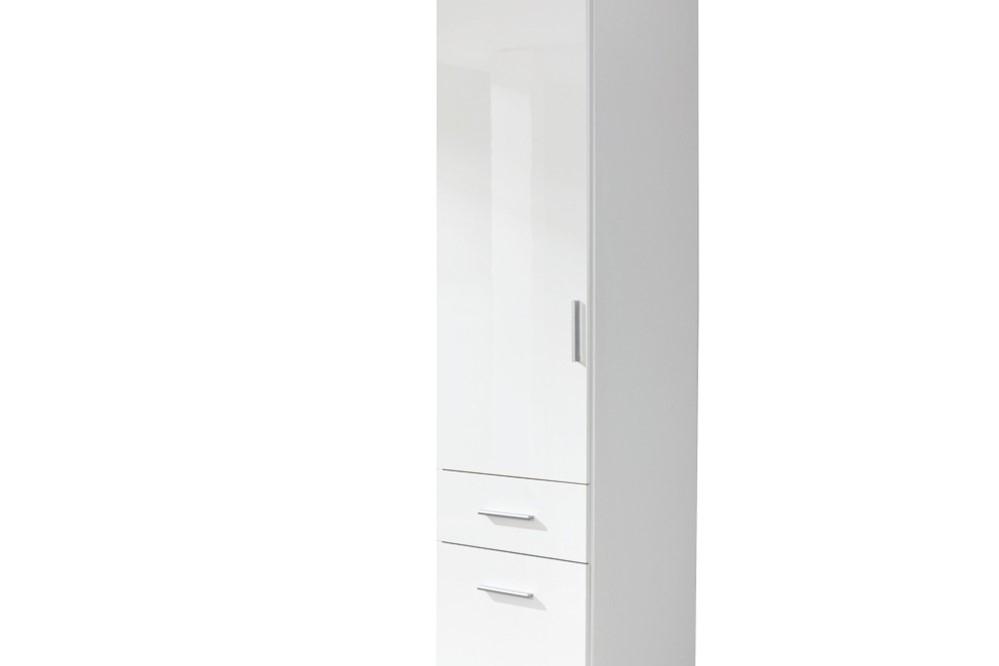 Drehtür-Kombischrank CELLE weiß / alpinweiß 47 x 197 x 54 cm links