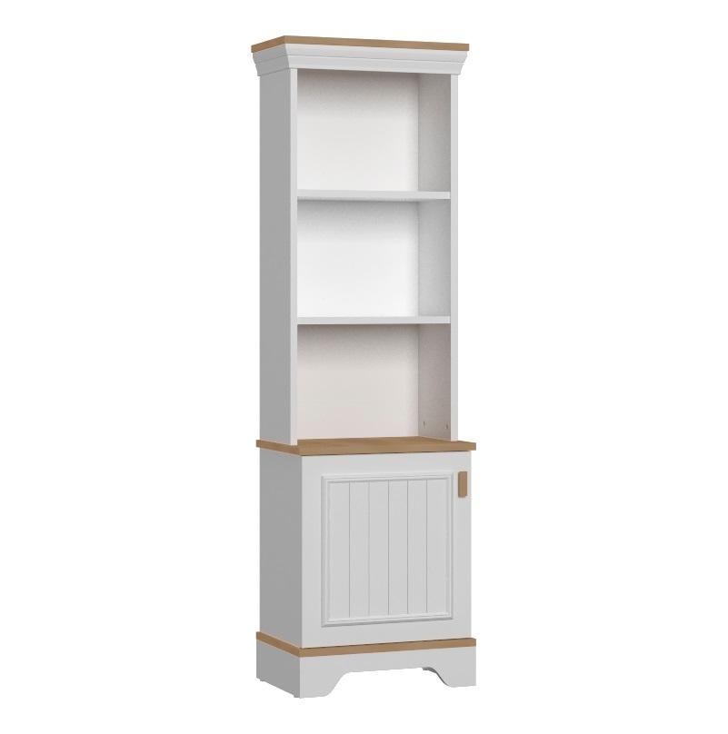 Almila Bücherregal Monte mit Tür in Weiß