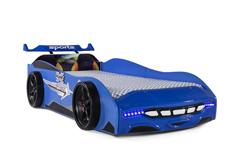 Autobett Kinderbett Sport 2.0 Blau mit Spoiler Ausstellungsstück