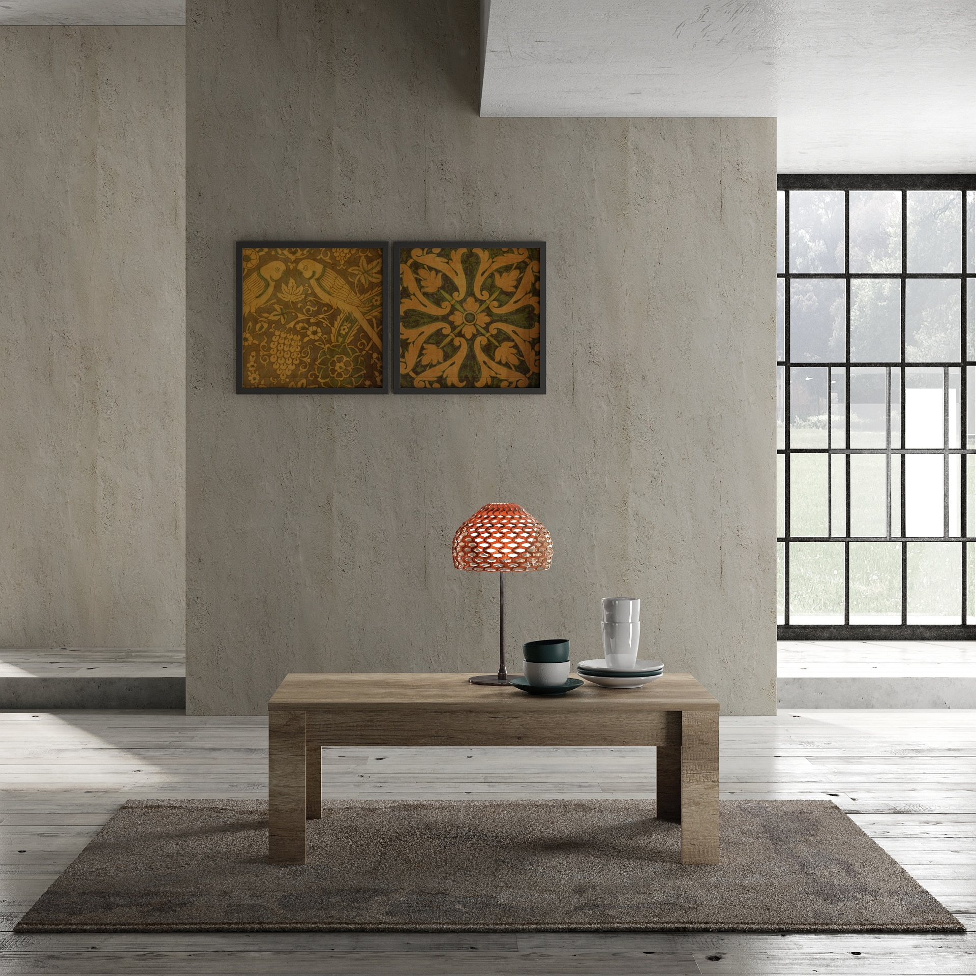 Design Couchtisch in Canyon Oak Grace 122cm
