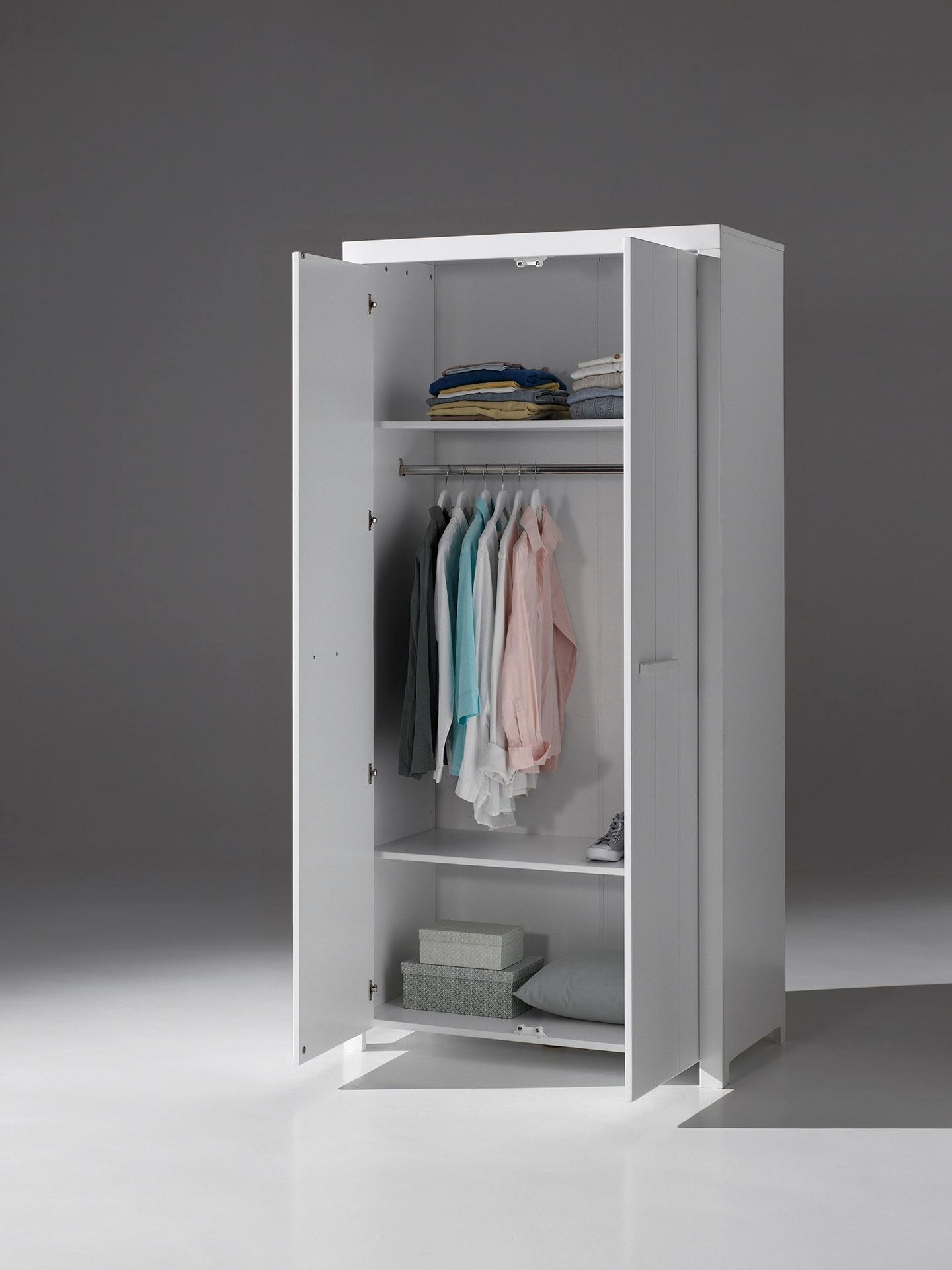Richard Kleiderschrank mit zwei Türen Weiß