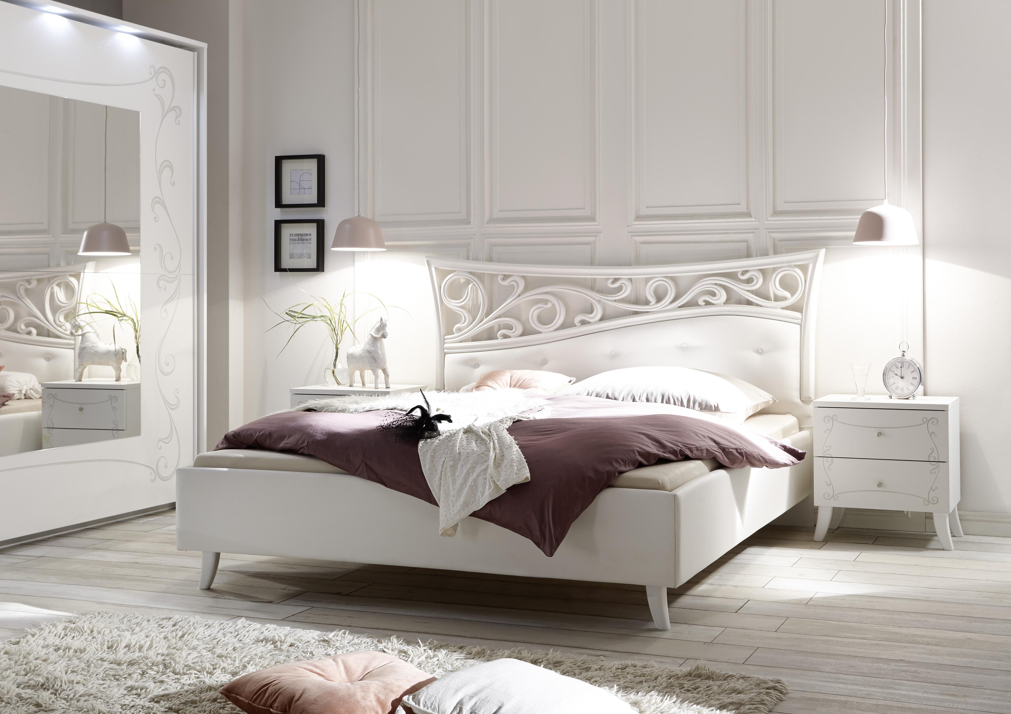 Design Bett Sereina in romantischem Stil 160x200