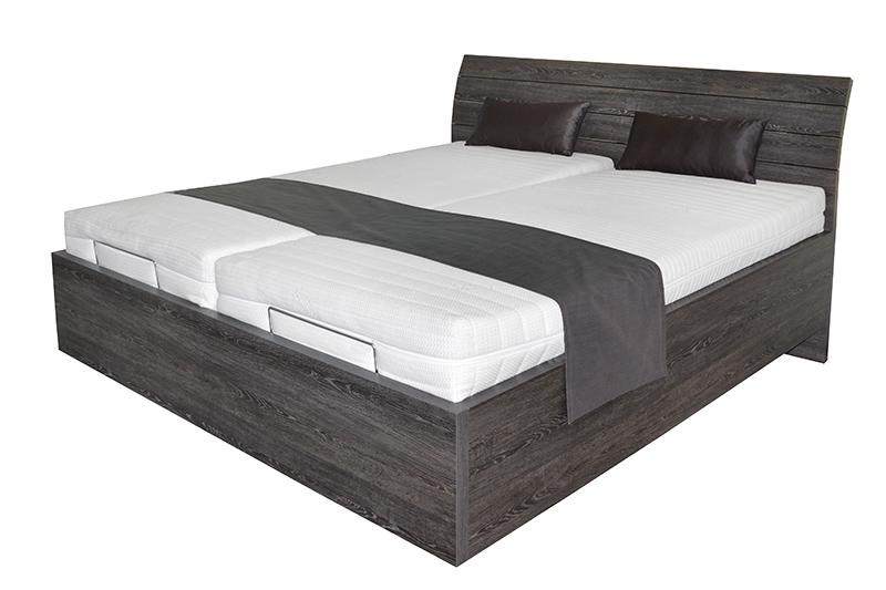 Schwebendes Bett Rielle Basic 160x200 Eiche Schwarz