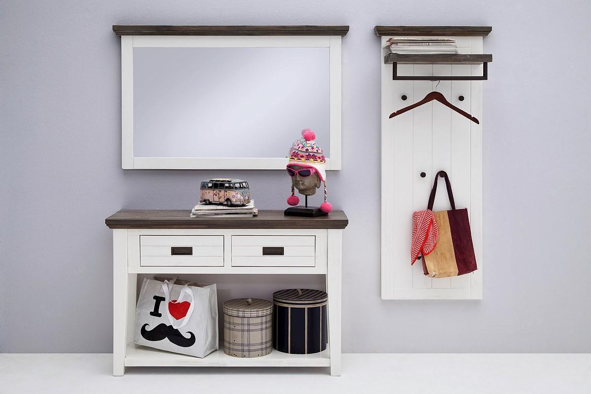 Seona Wandspiegel Horizontal in Akazie weiß lackiert