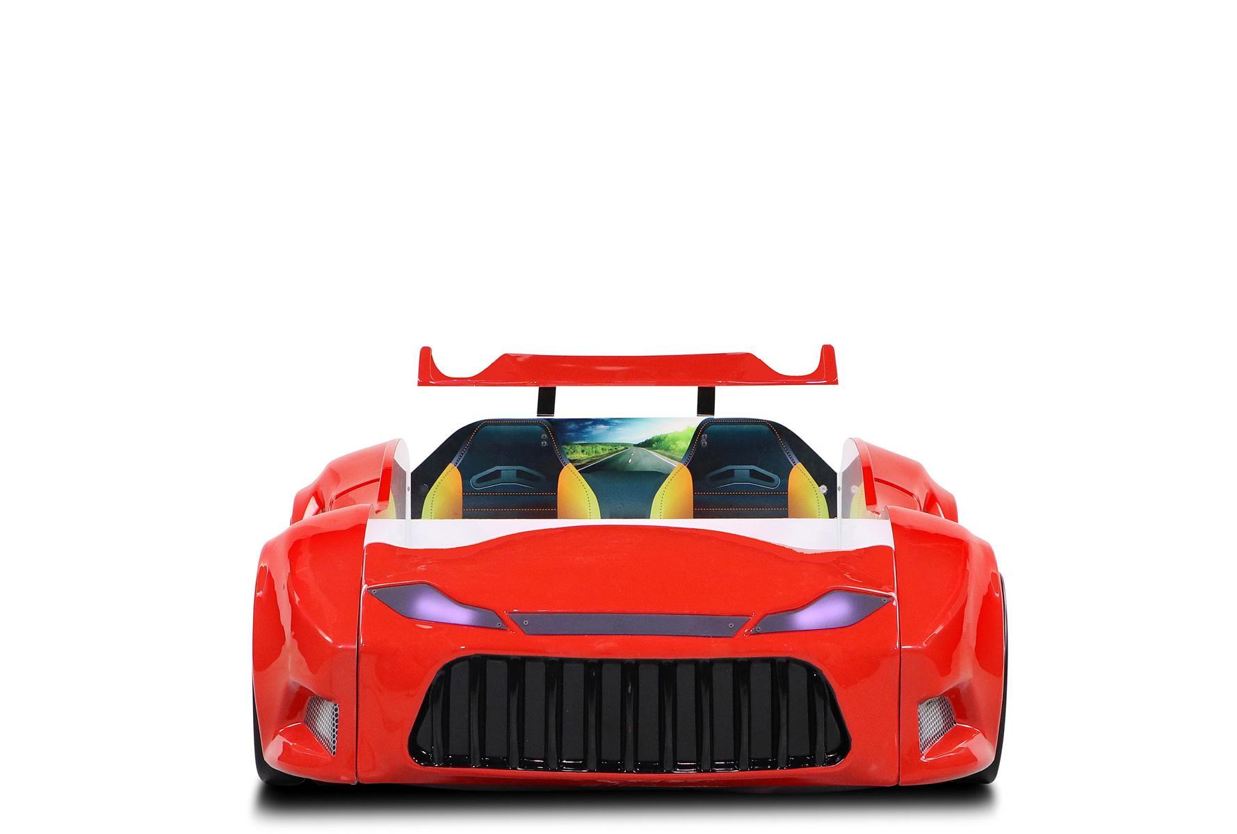 Autobett Nova Boss Bumer mit Fernbedienung Rot
