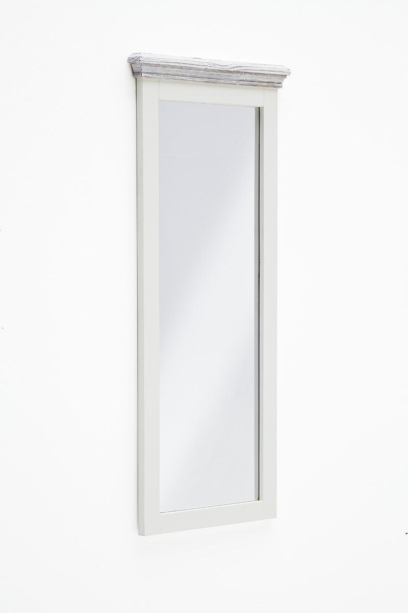 Spiegel Olio 99x145x5 Vertikal in Kiefer Weiß massiv