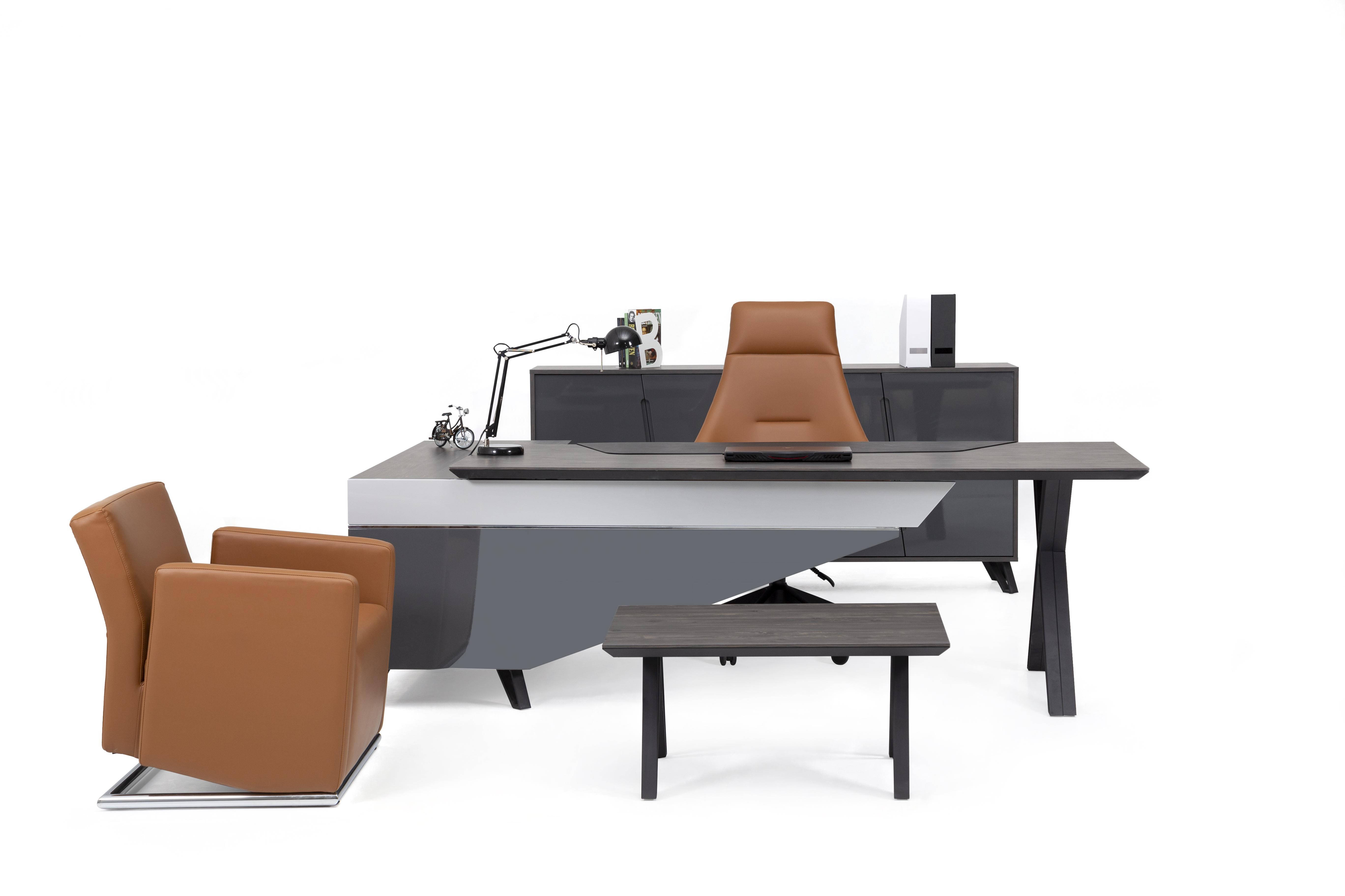 Ovali Büromöbel komplett 4-teilig Cross Links