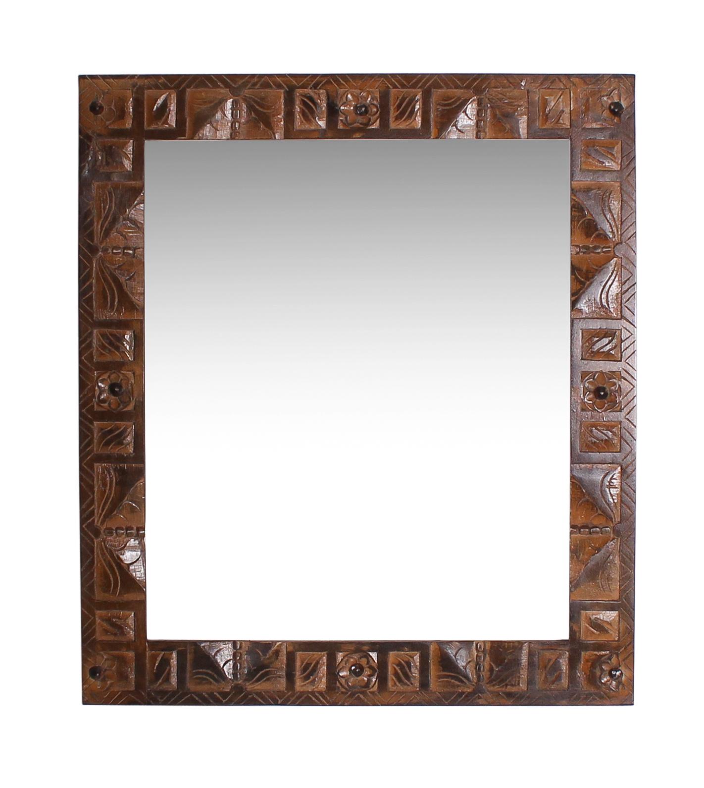 Sit Wandspiegel Almirah im kolonial Stil recycelt